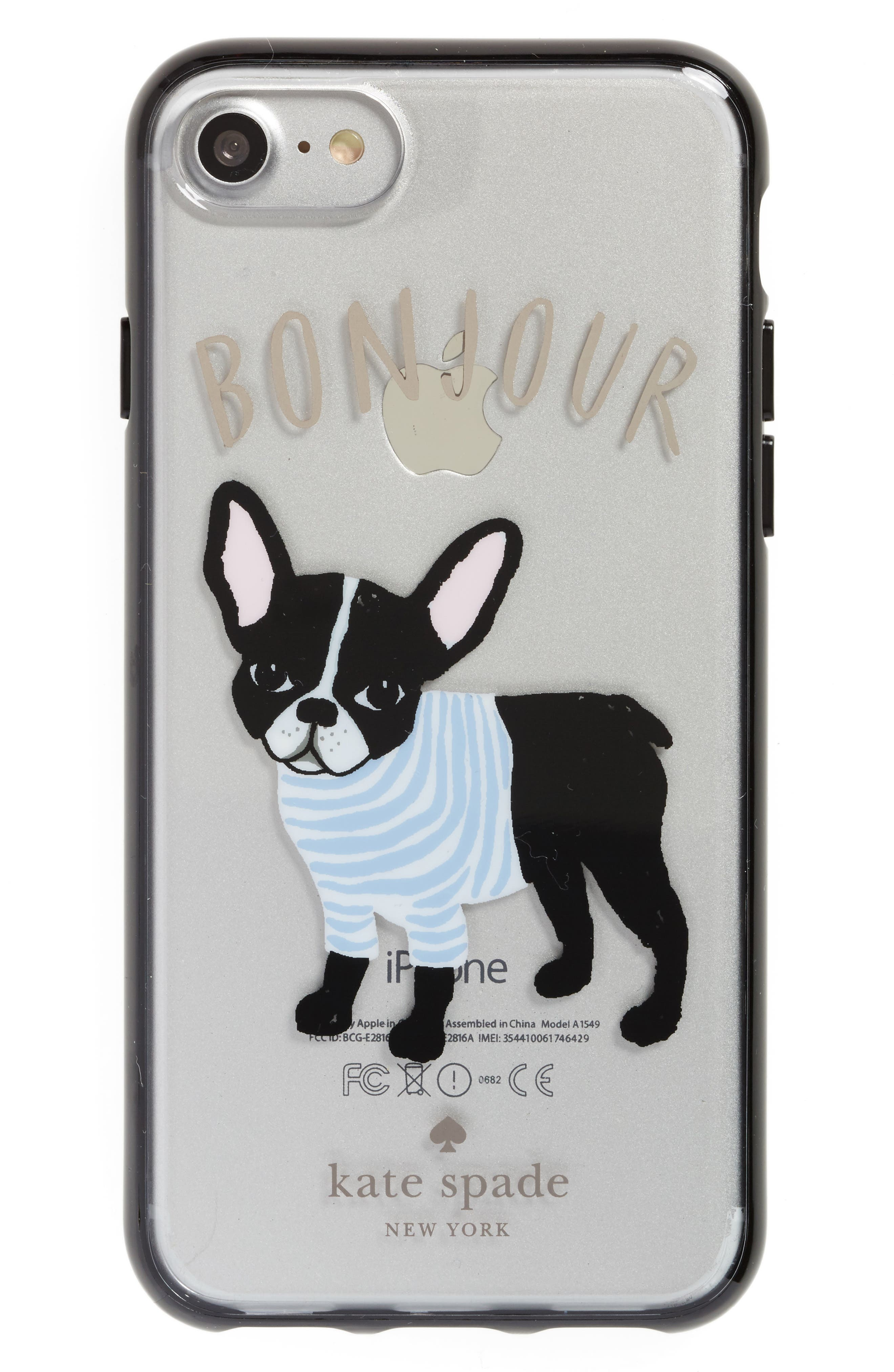 Alternate Image 1 Selected - kate spade new york bonjour iPhone 7/8 & 7/8 Plus case