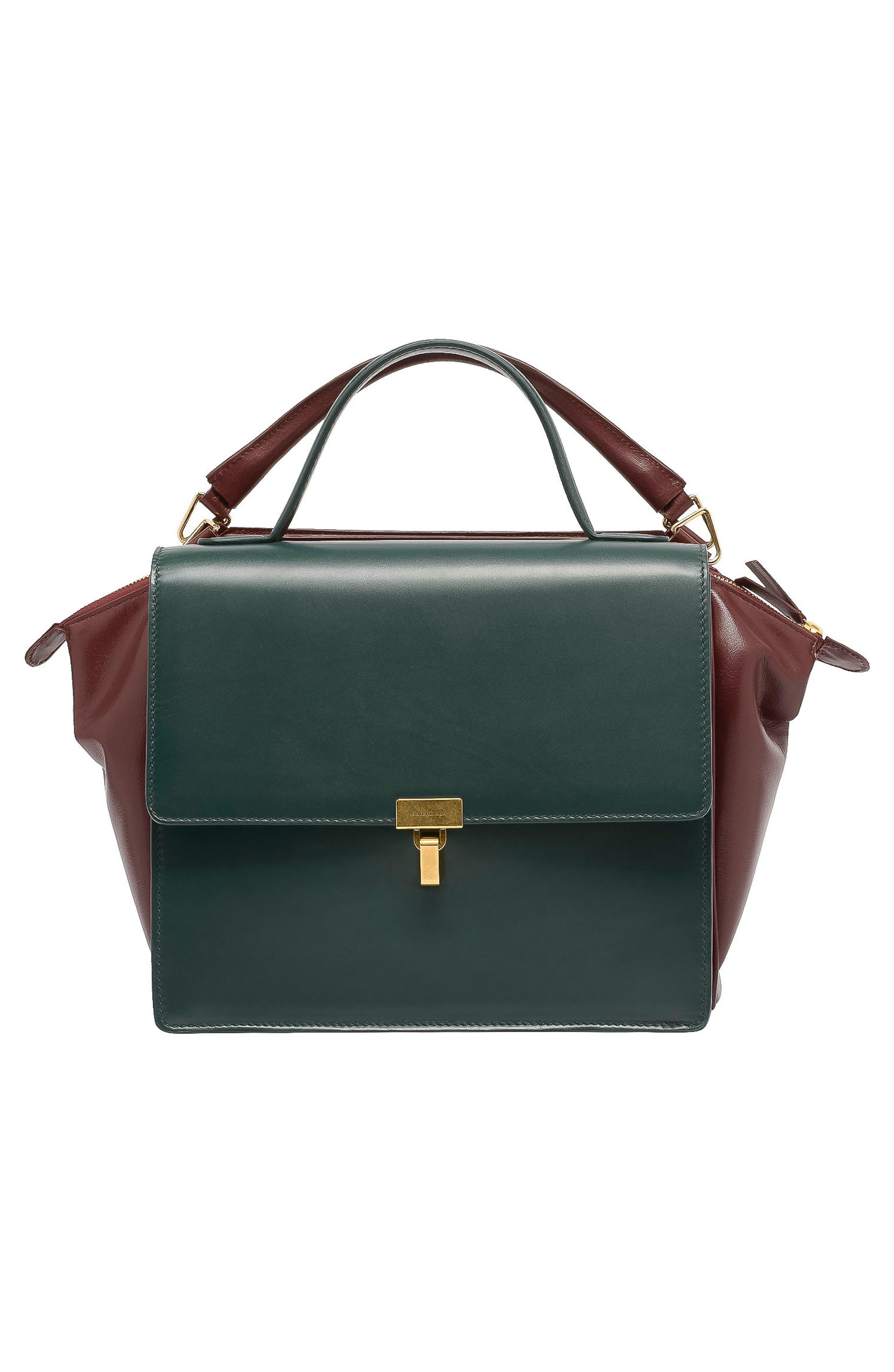 Main Image - Balenciaga Collage Double Calfskin Leather Bag