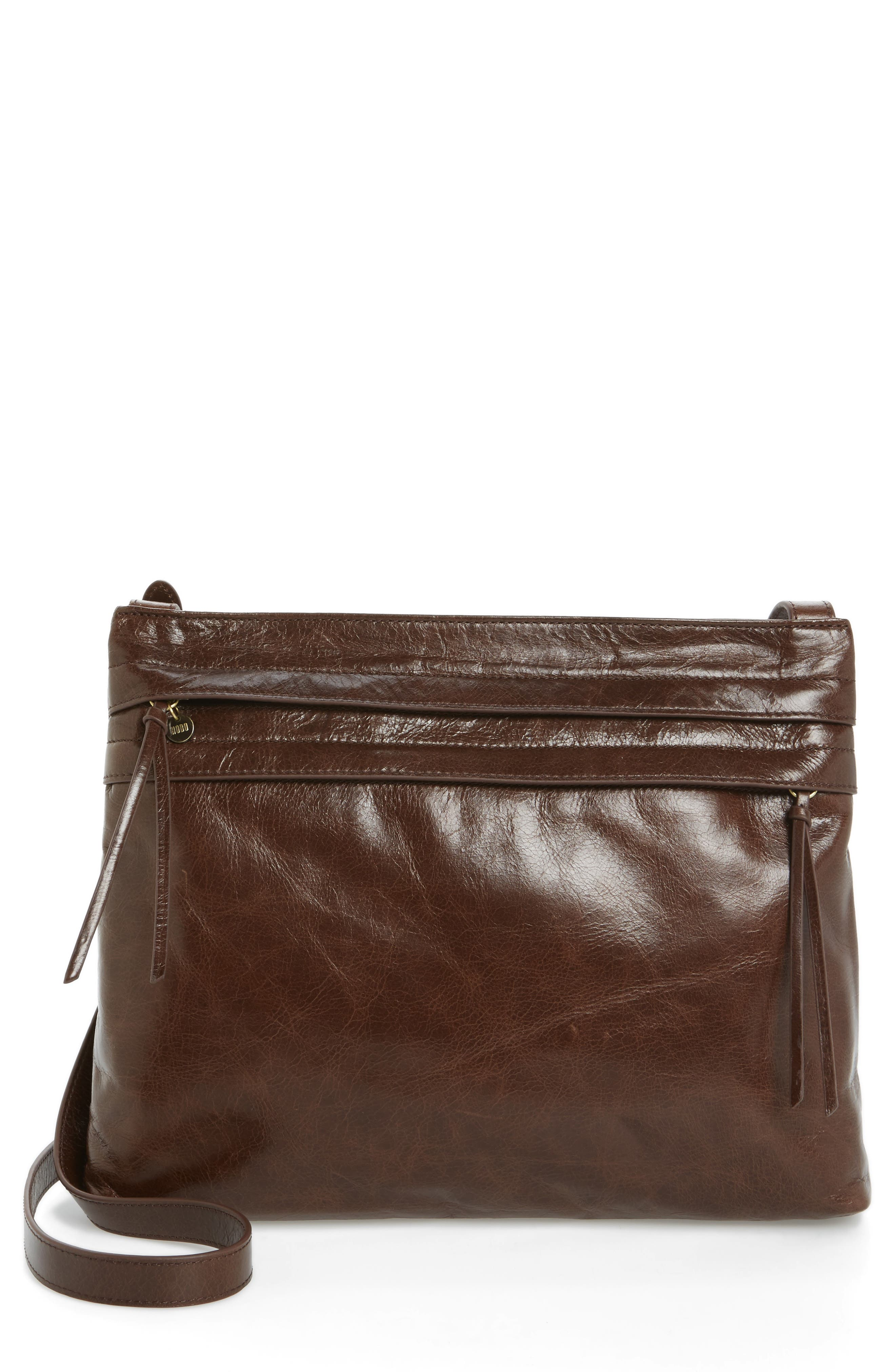 Larkin Leather Messenger Bag,                             Main thumbnail 1, color,                             Espresso