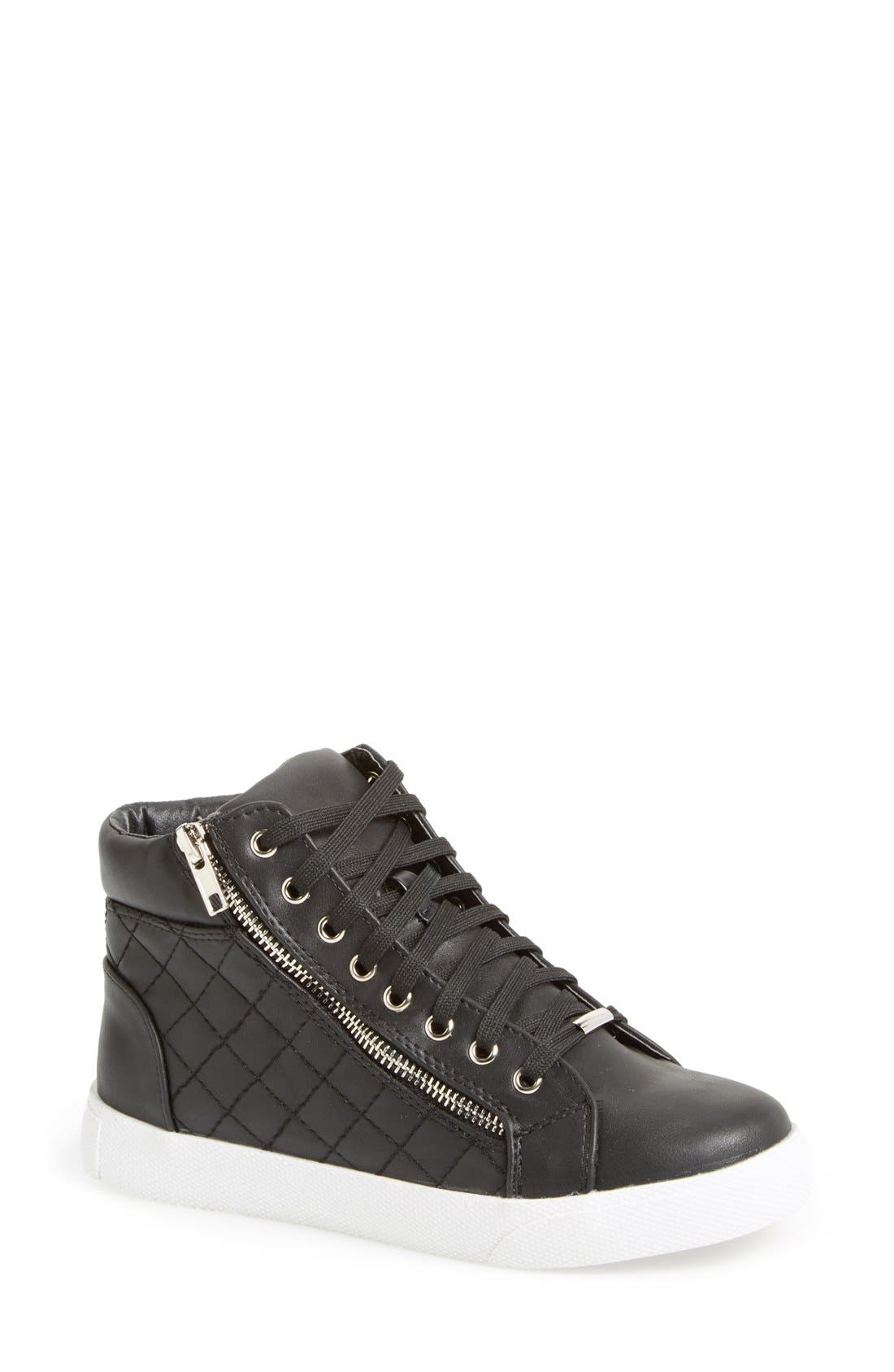 Alternate Image 1 Selected - Steve Madden 'Decaf' Quilted High Top Sneaker (Women)
