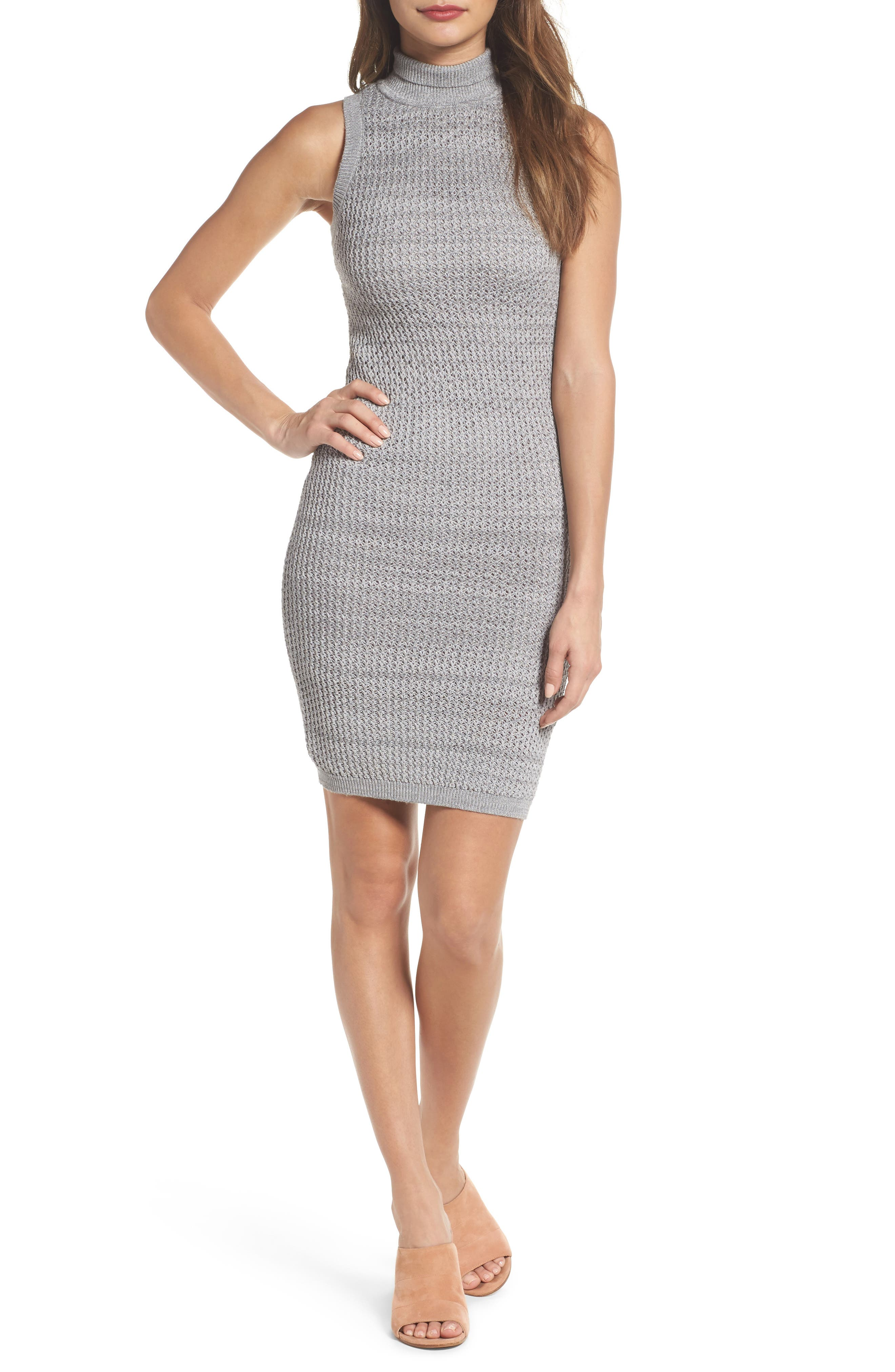 We Shall Overcome Body-Con Dress,                             Main thumbnail 1, color,                             Grey