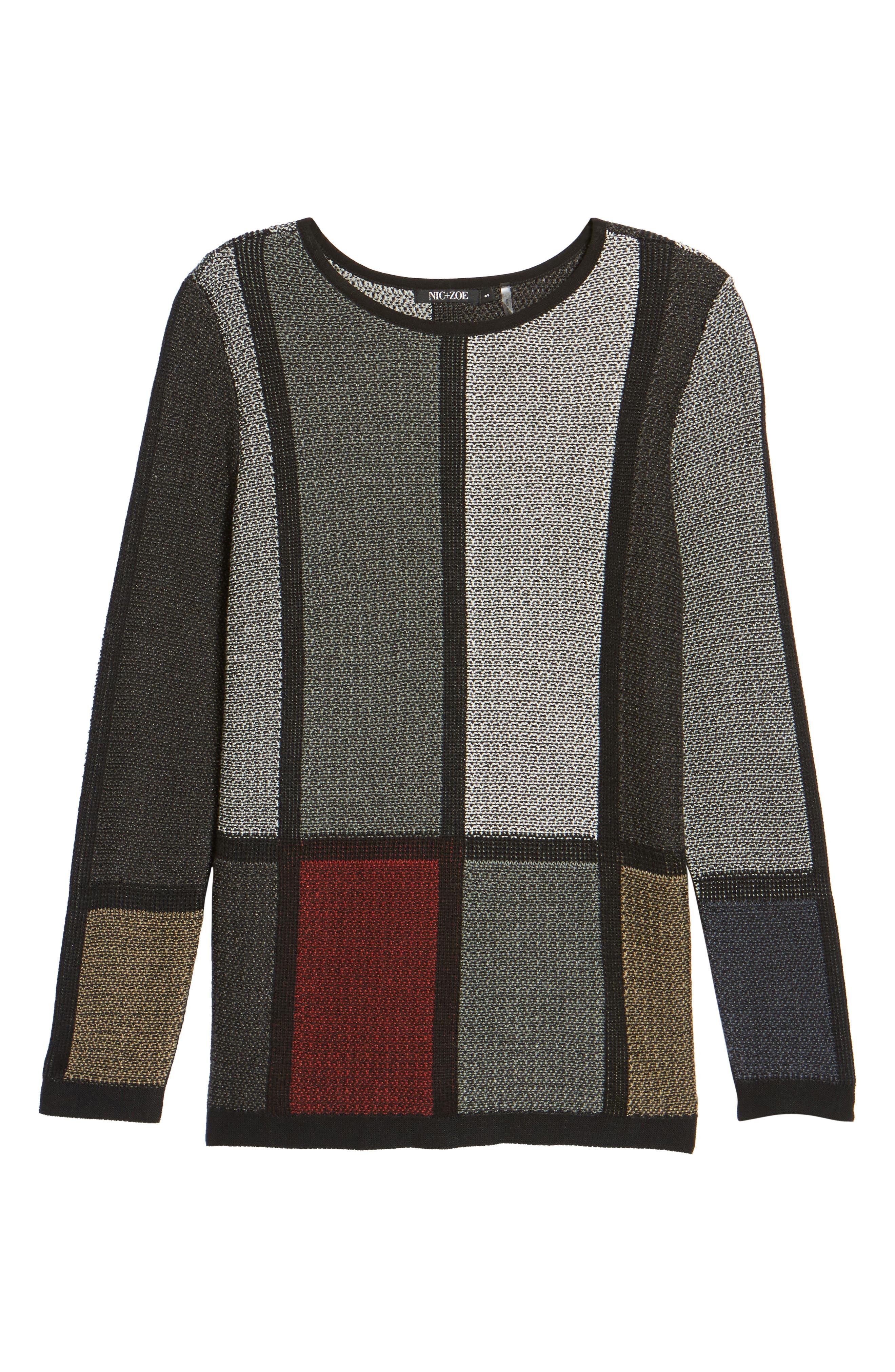 Around the Block Sweater,                             Alternate thumbnail 6, color,                             Multi