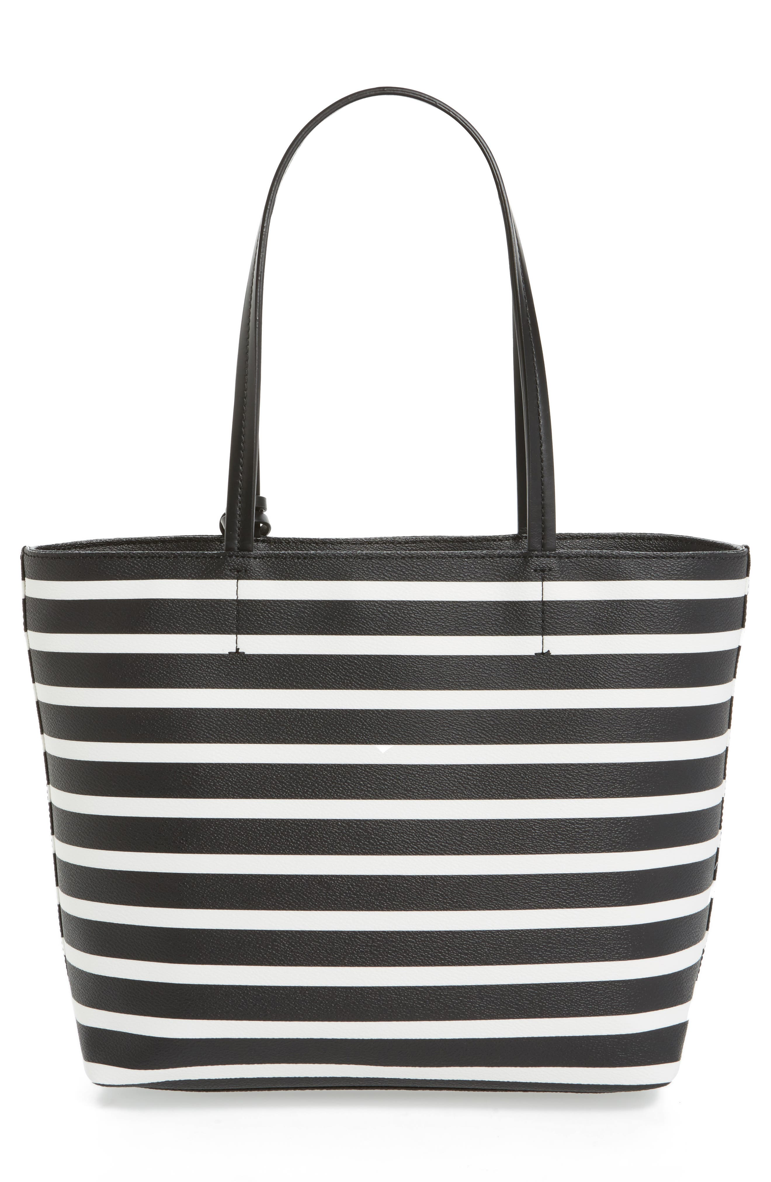 hyde lane - small riley faux leather tote,                             Alternate thumbnail 2, color,                             Black/ Off White