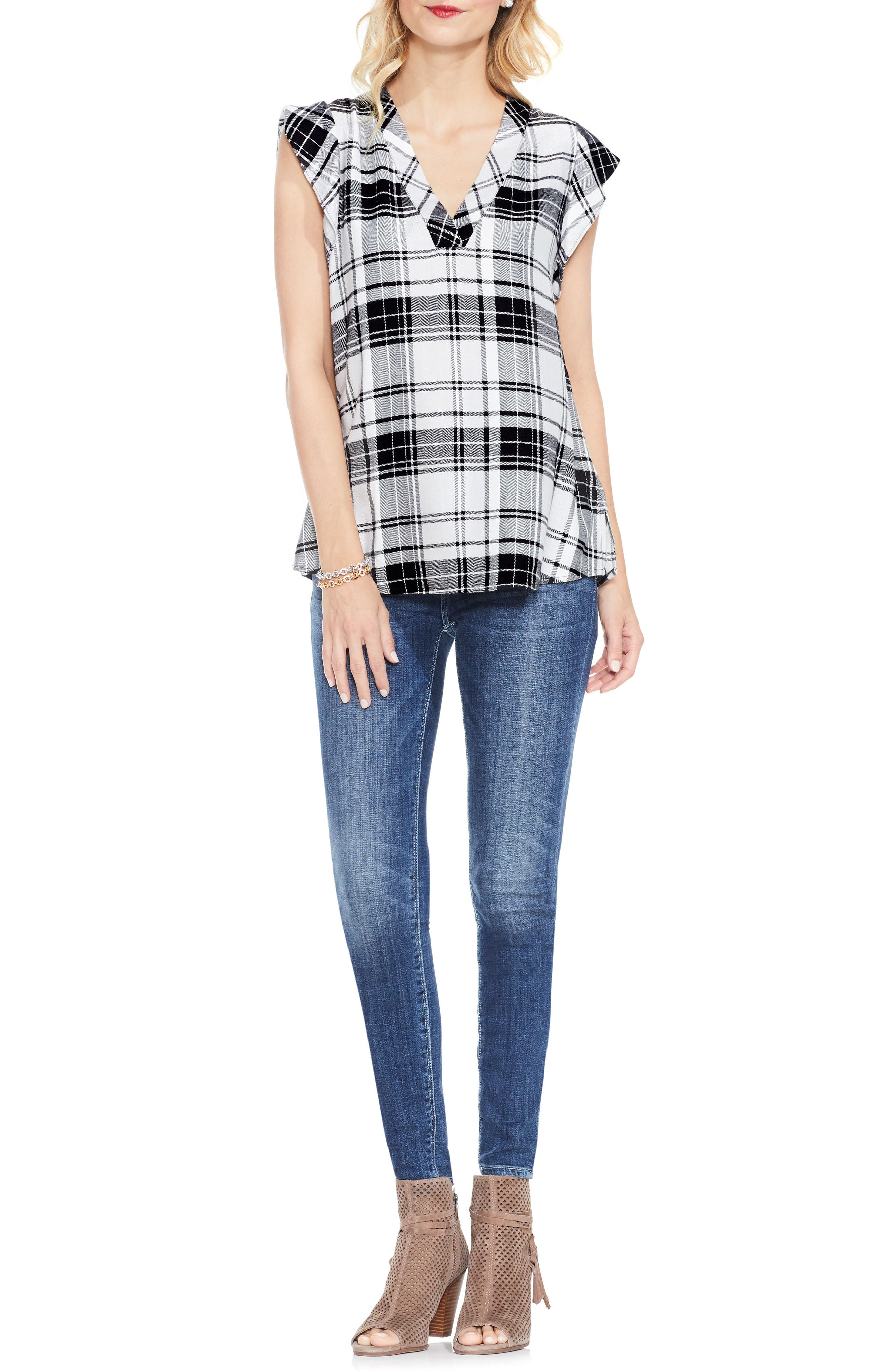 Alternate Image 2  - Two by Vince Camuto Bedford Plaid Top