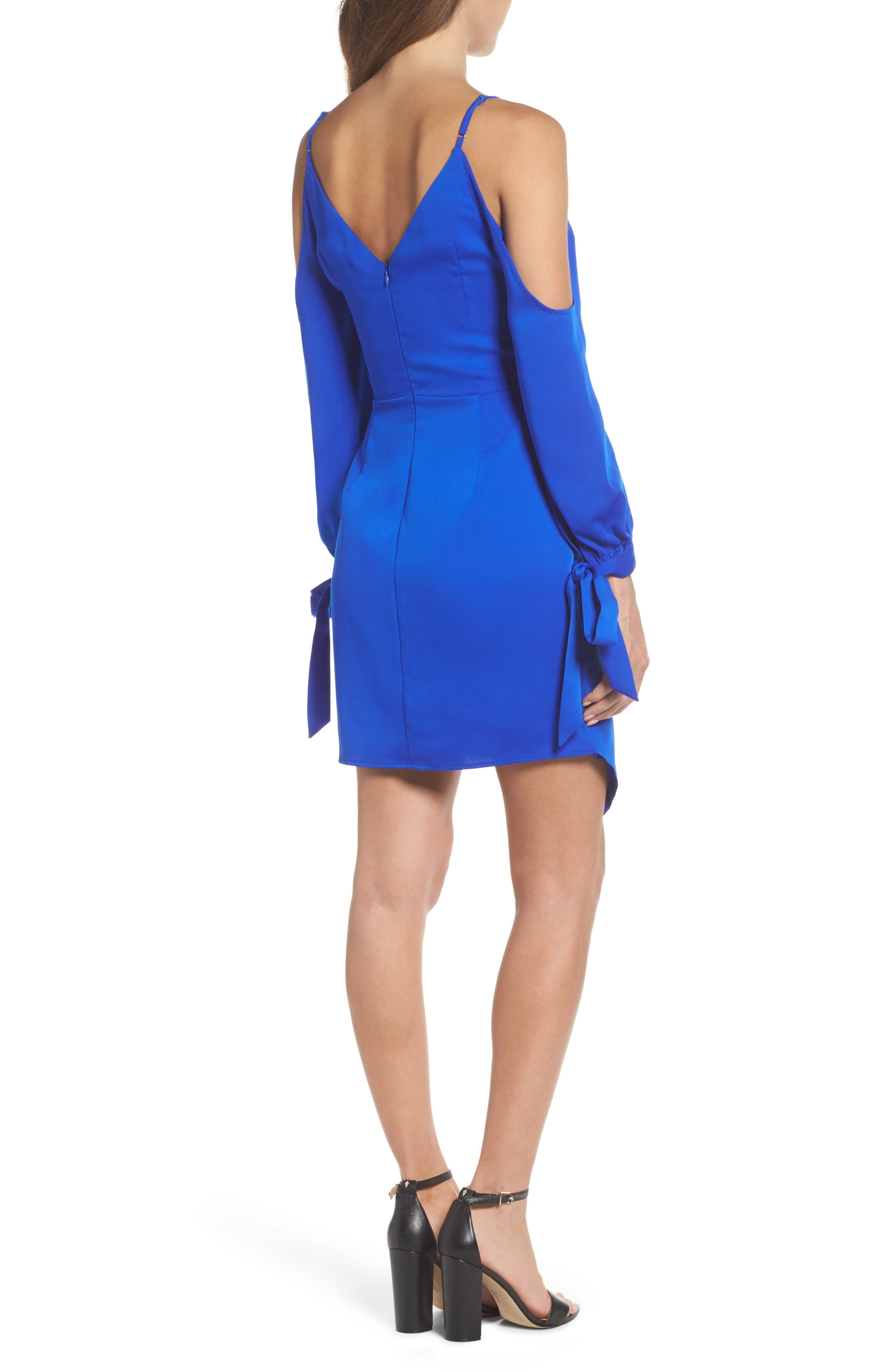 Alternate Image 2  - Adelyn Rae Amelia Cold Shoulder Sheath Dress