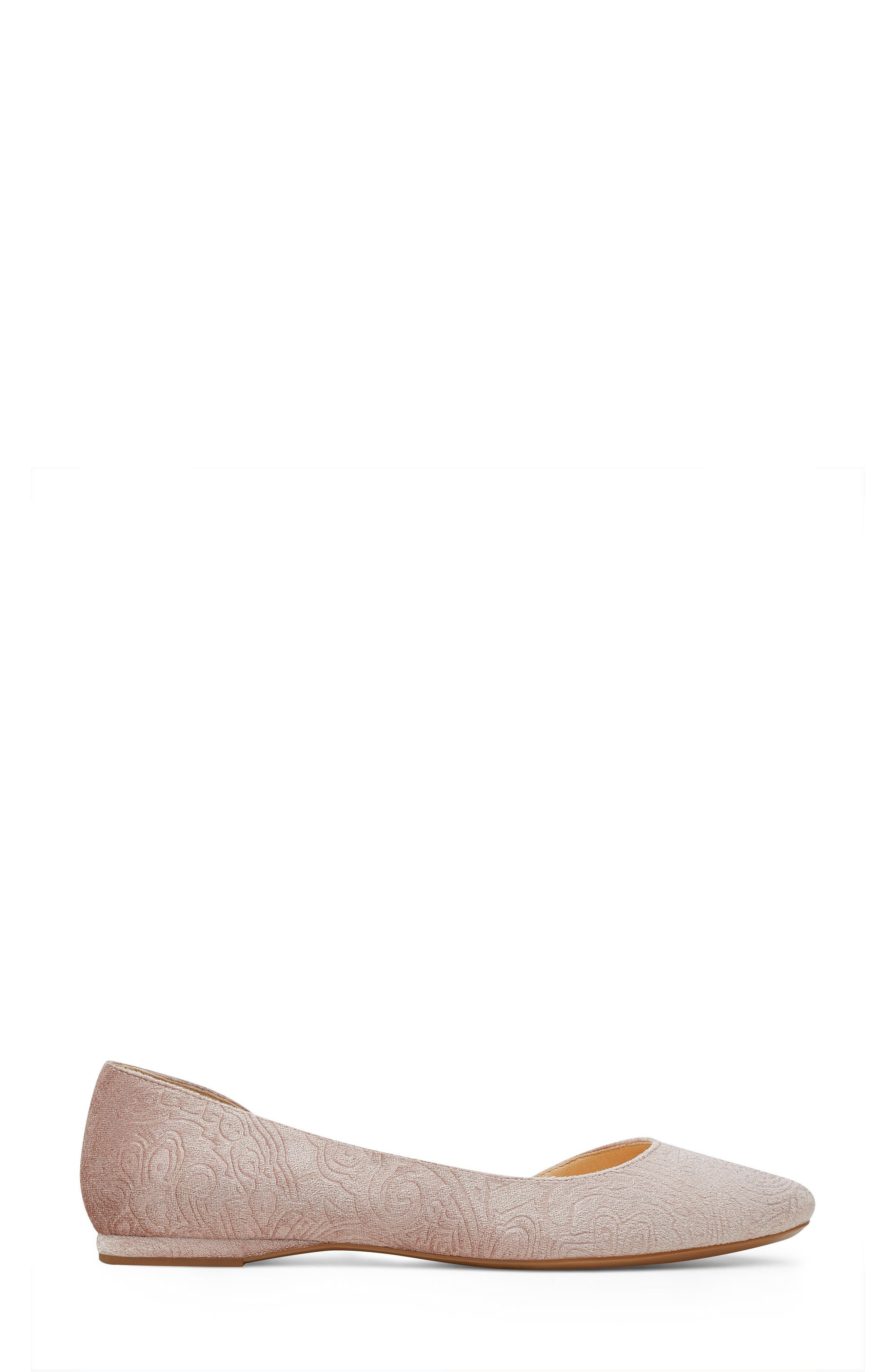 Spruce d'Orsay Flat,                             Alternate thumbnail 3, color,                             Natural Fabric