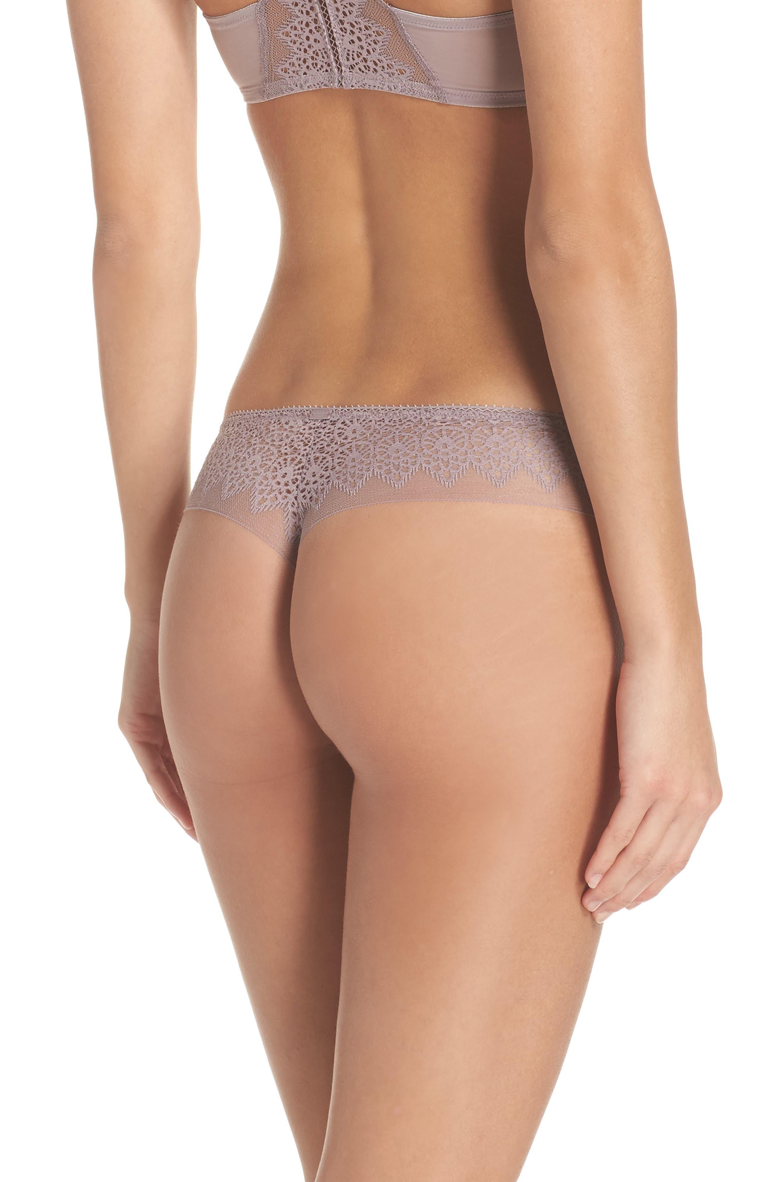 Alternate Image 2  - Calvin Klein Lace Thong