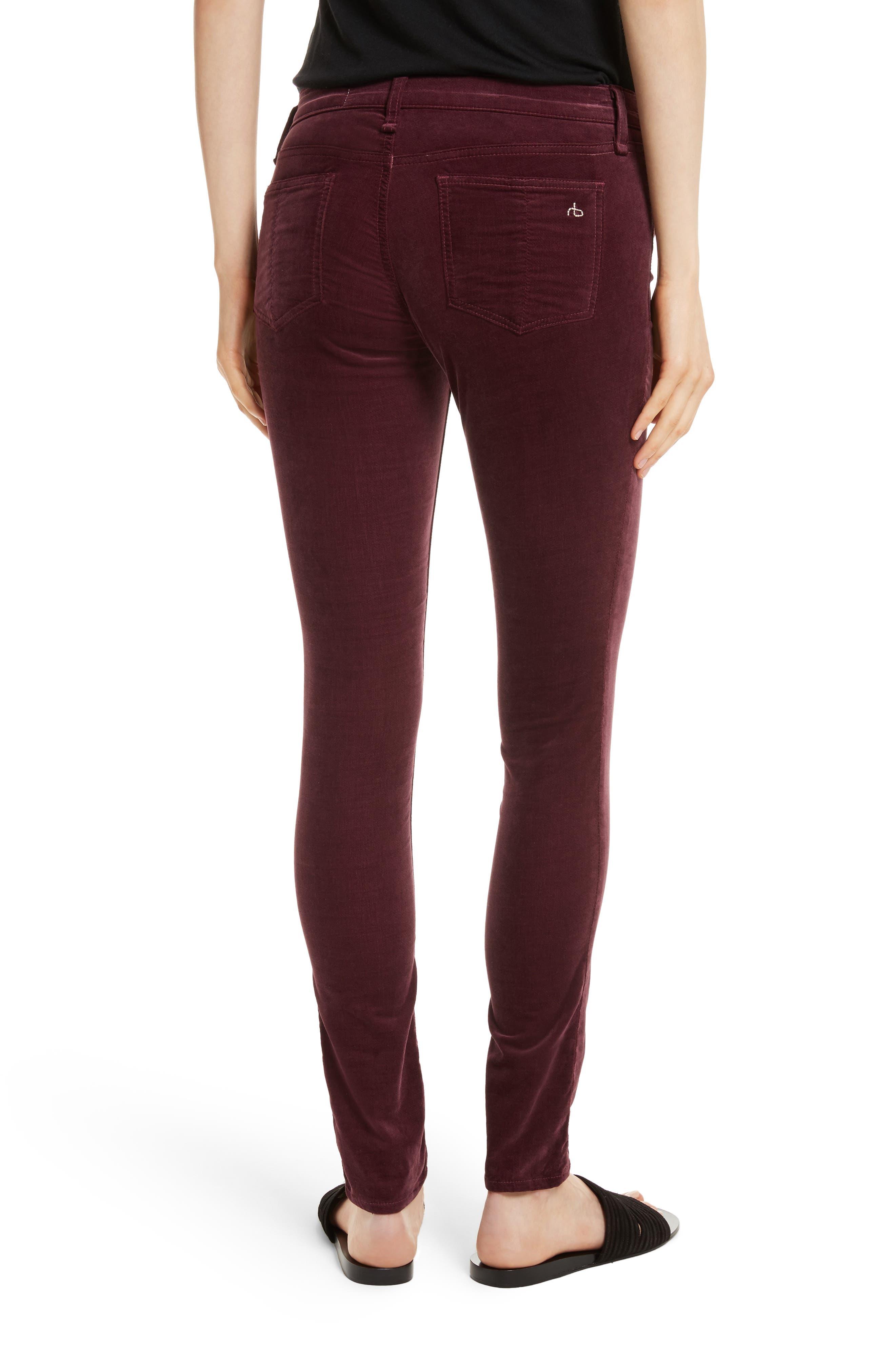 Alternate Image 2  - rag & bone/JEAN Velvet Skinny Jeans