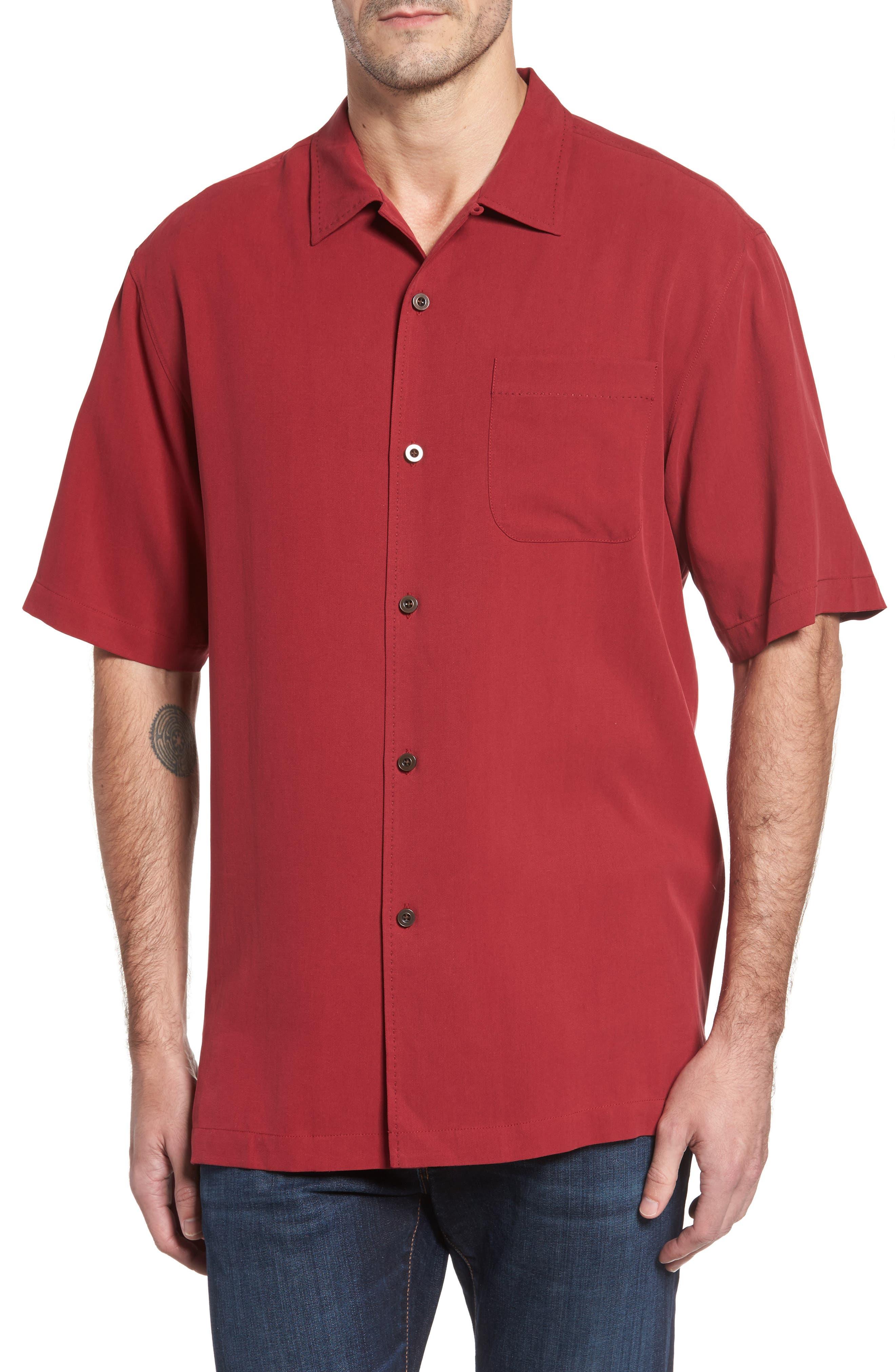 Main Image - Tommy Bahama Catalina Twill Short Sleeve Silk Camp Shirt