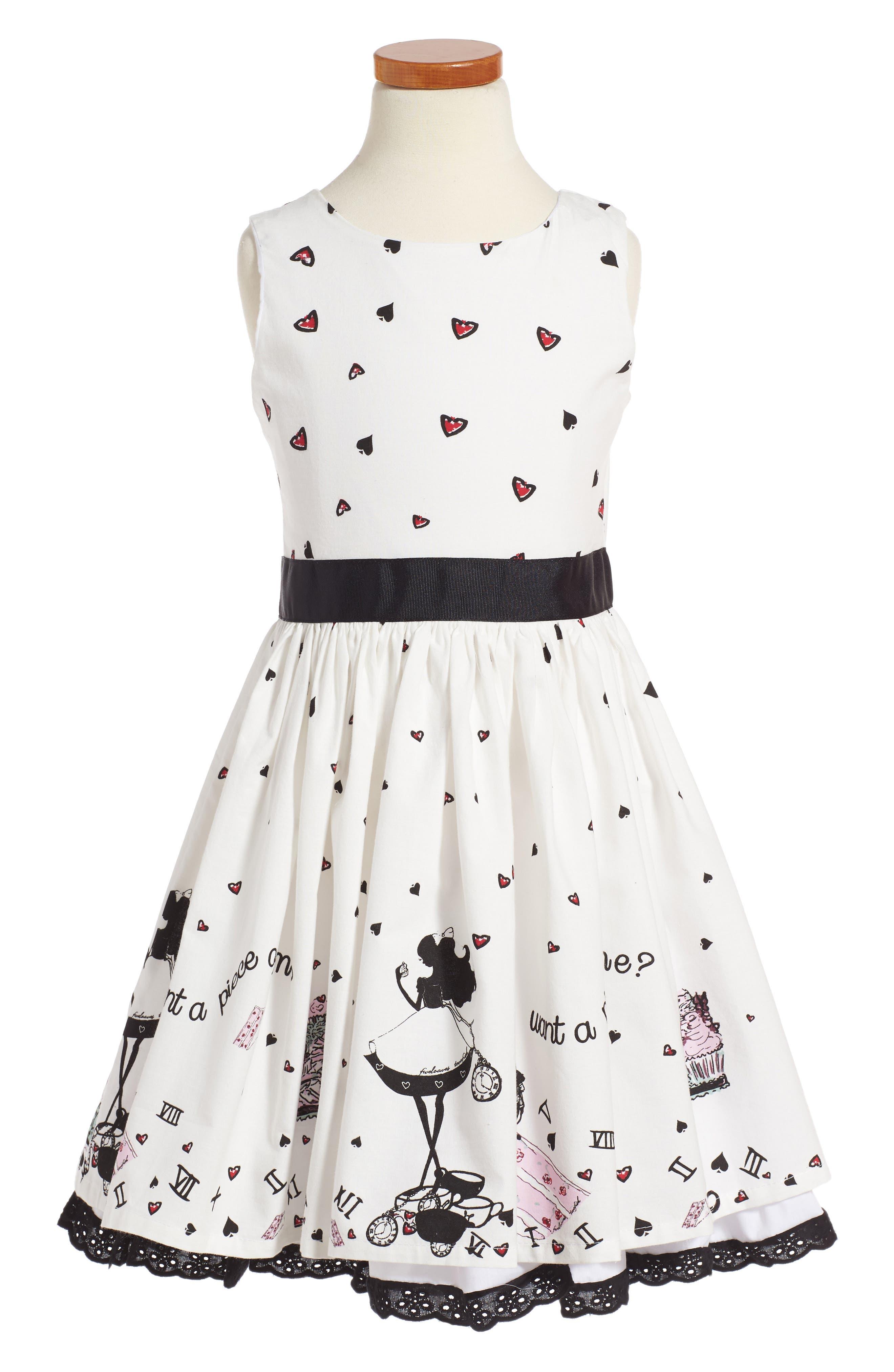 Main Image - Fiveloaves Twofish Alice Party Dress (Toddler Girls, Little Girls & Big Girls)