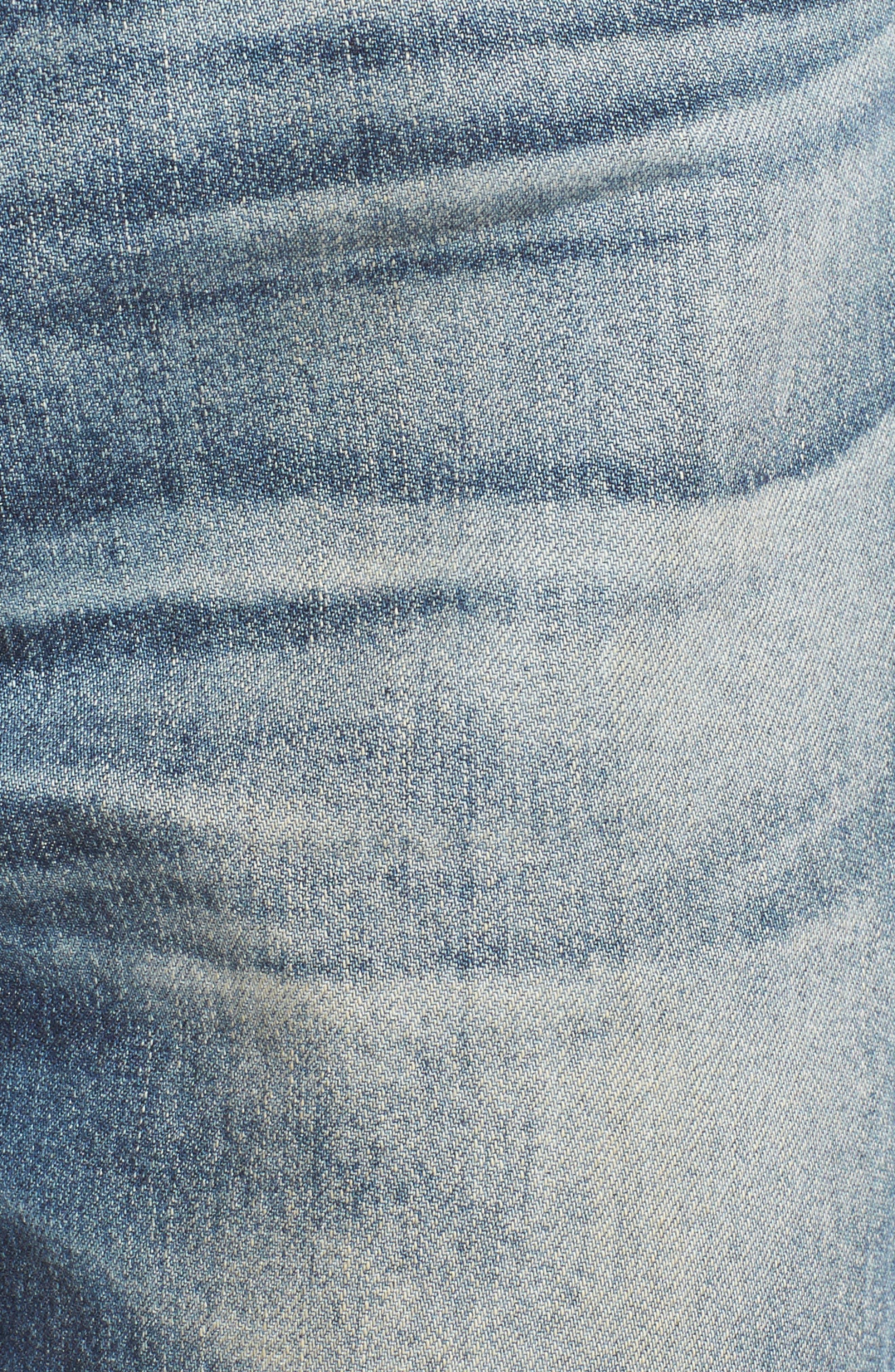 Alternate Image 5  - AG Isabelle High Waist Straight Leg Crop Jeans (23 Years Wind Worn)