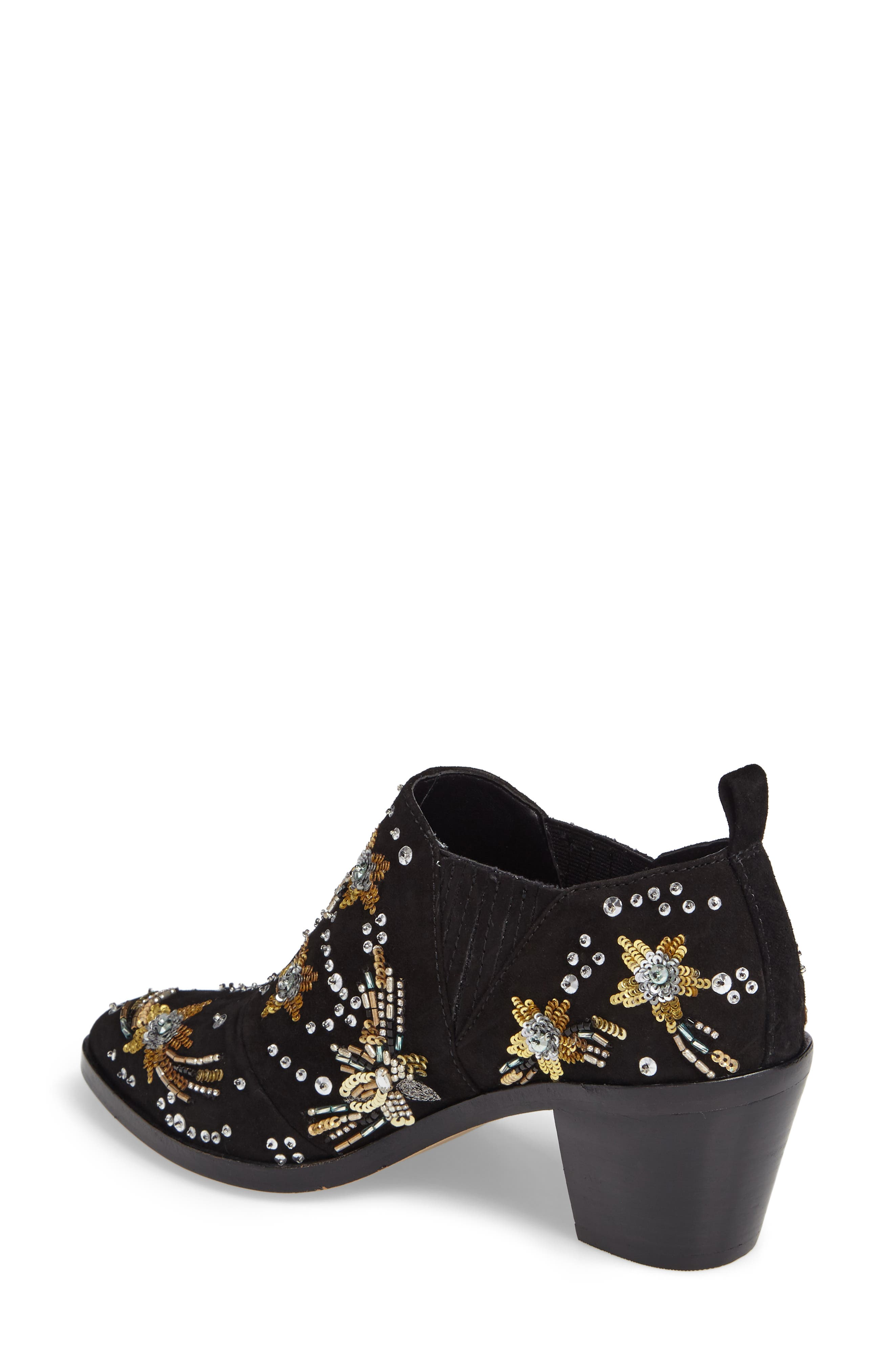 Lucy Embellished Bootie,                             Alternate thumbnail 2, color,                             Black