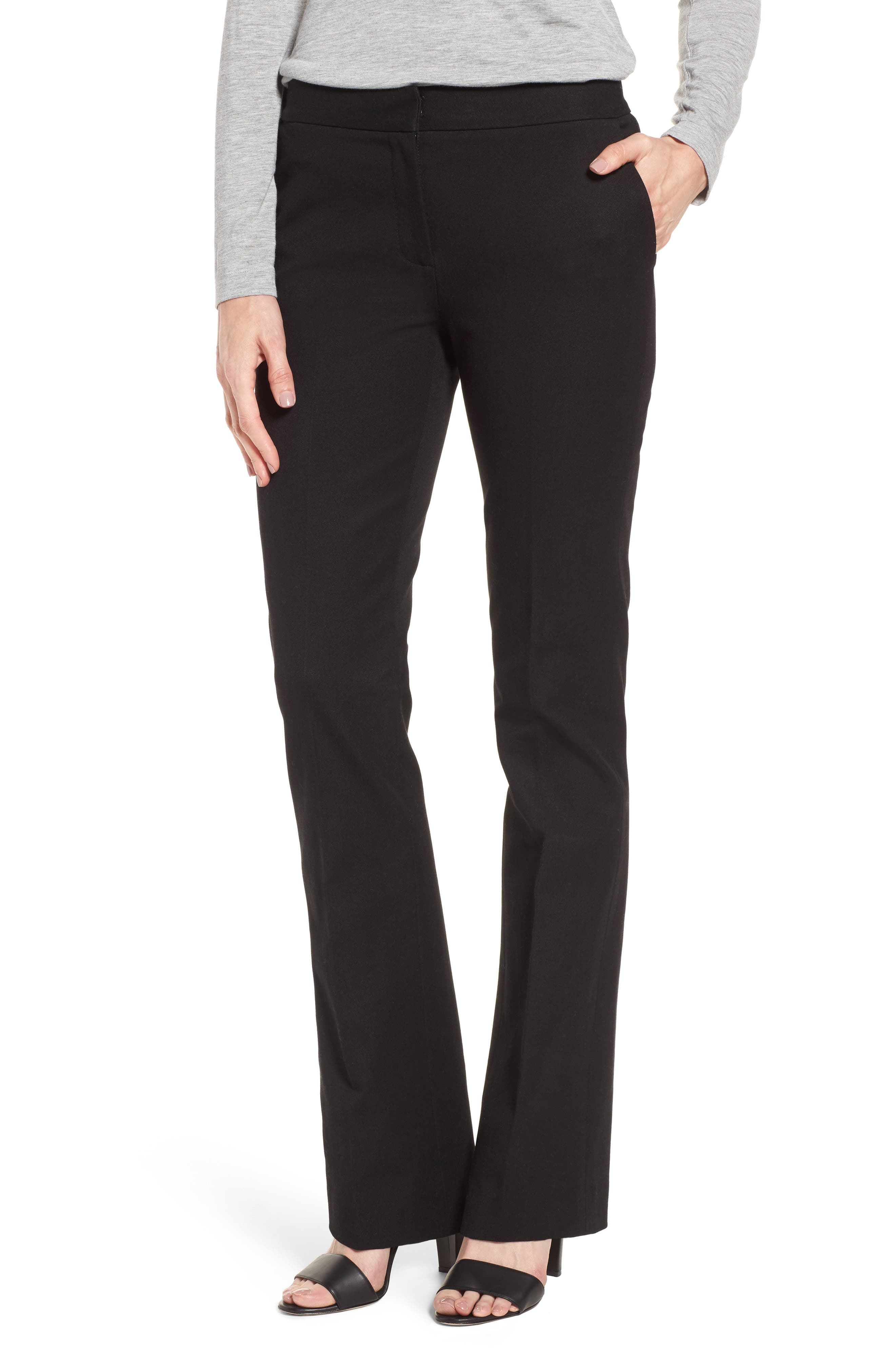 Main Image - Nordstrom Signature Stretch Blend Slim Flare Leg Pants