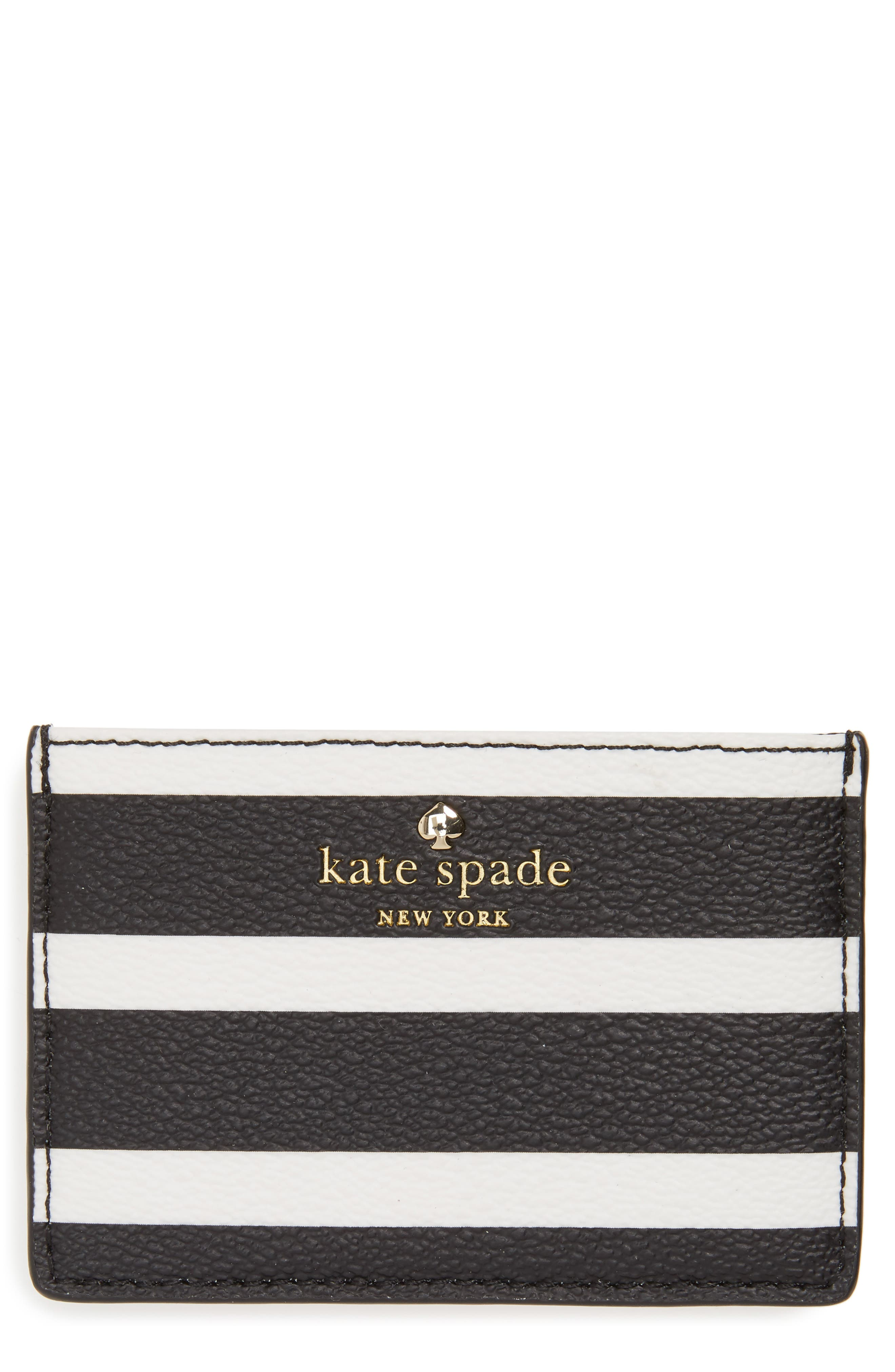 KATE SPADE NEW YORK hyde lane stripe card case