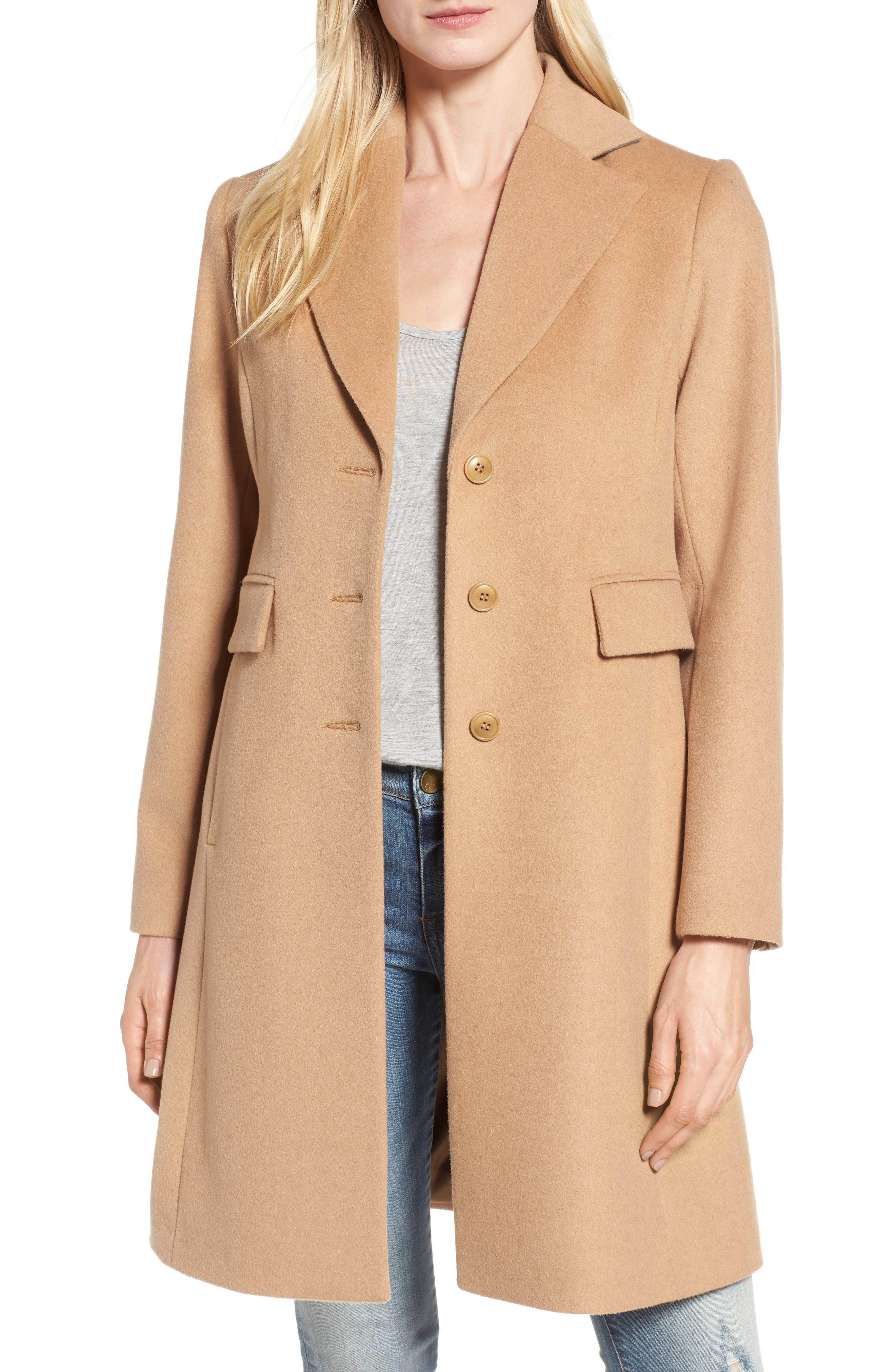 Alternate Image 1 Selected - Kristen Blake Walking Coat (Regular & Petite)