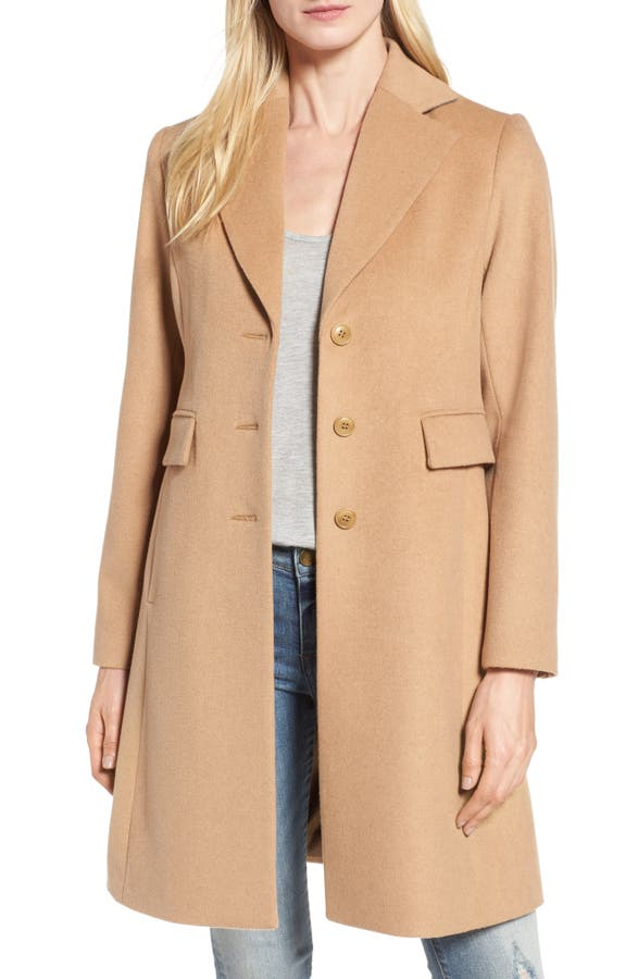 Main Image - Kristen Blake Walking Coat (Regular & Petite)