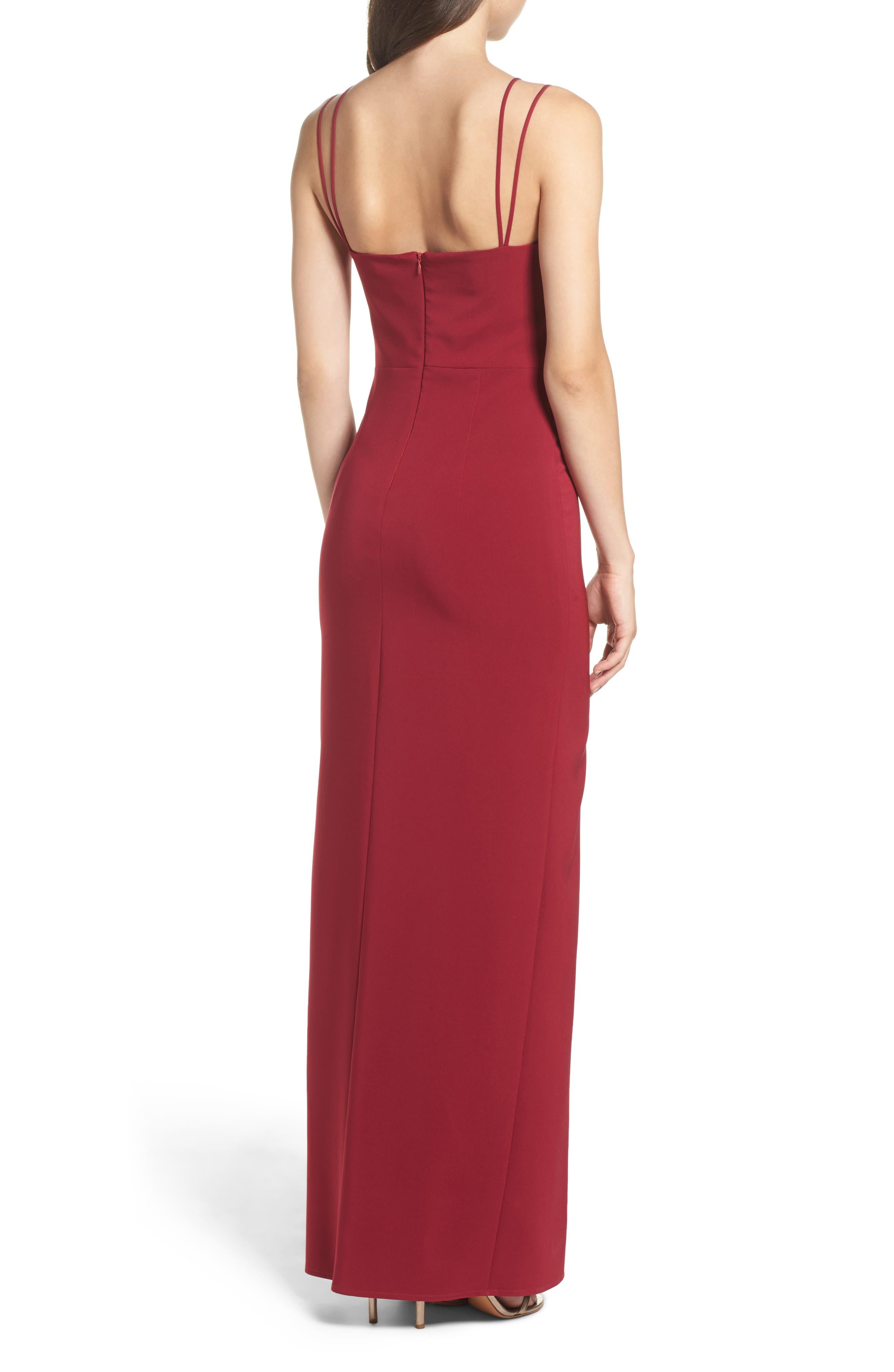 Starlett Gown,                             Alternate thumbnail 2, color,                             Wine