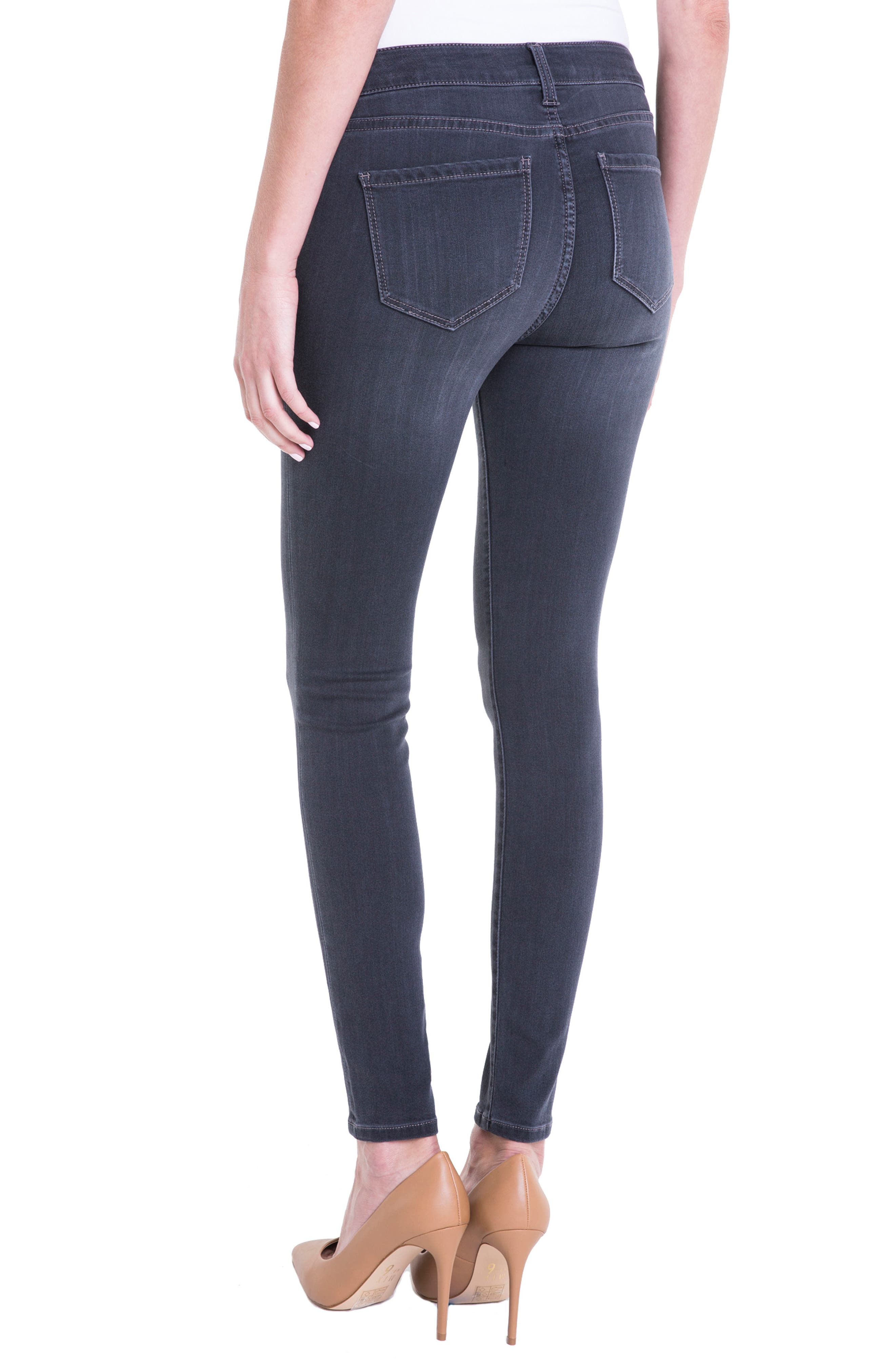 Alternate Image 3  - Liverpool Jeans Company Abby Stretch Skinny Jeans (Meteorite)