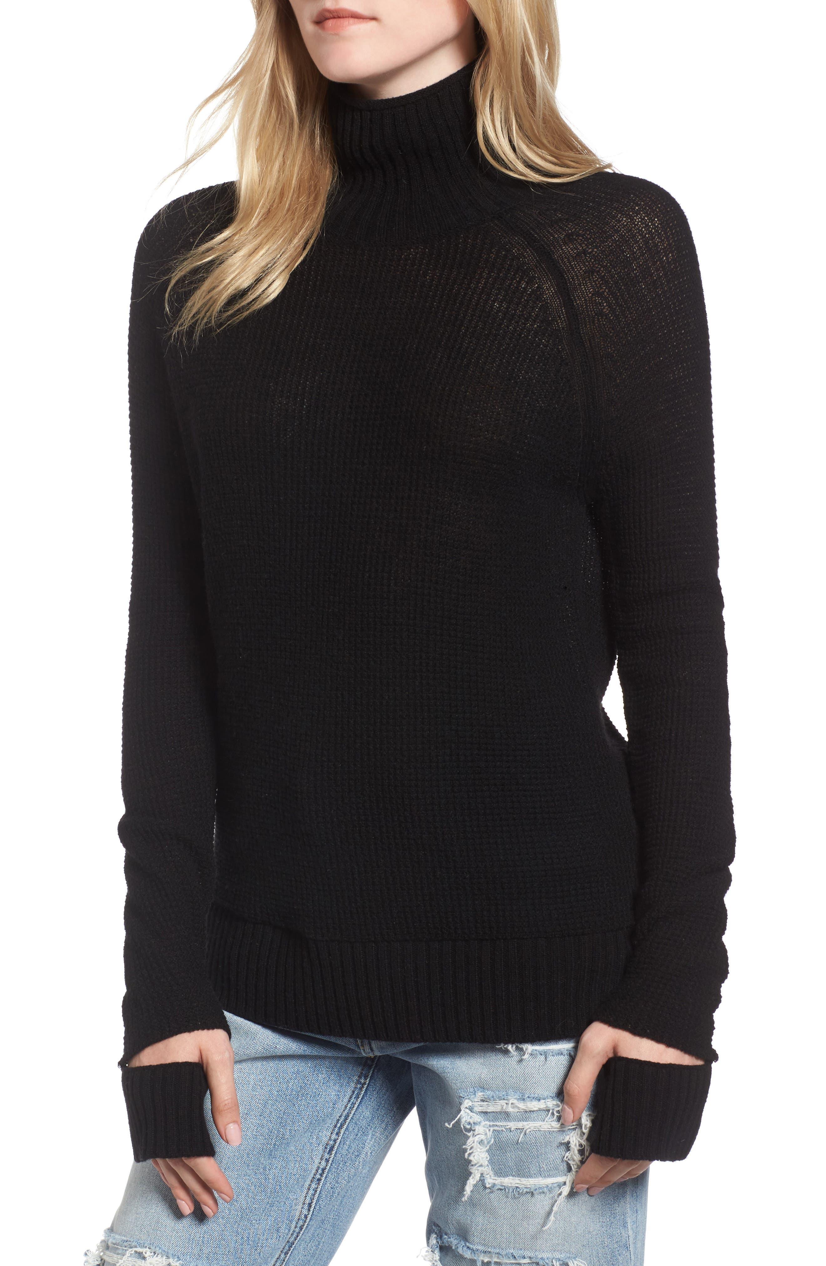 Jenni Turtleneck Sweater,                         Main,                         color, Black