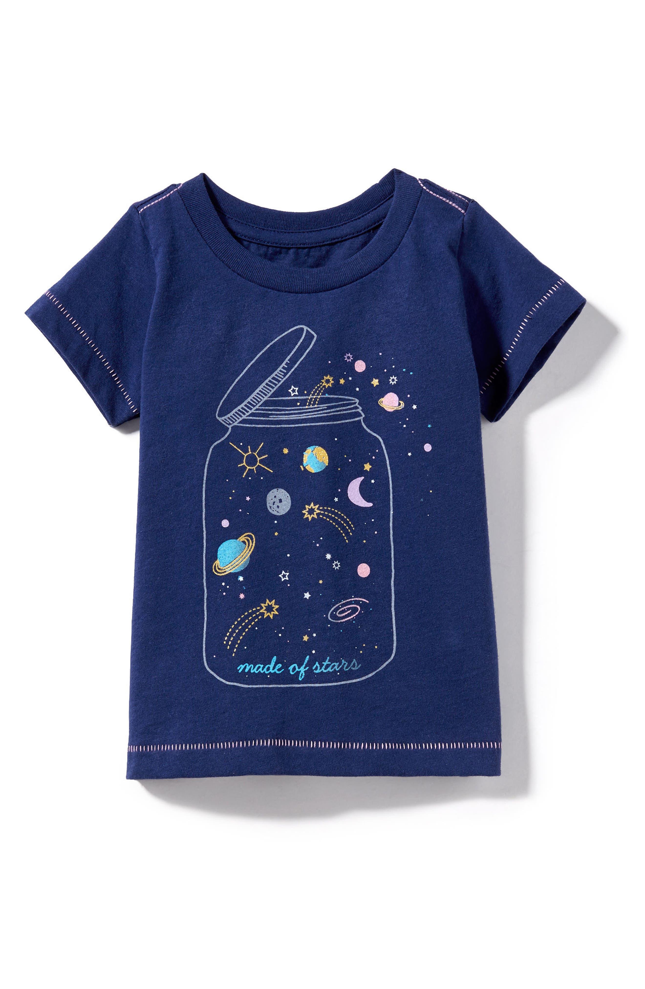 Alternate Image 1 Selected - Peek Jar of Stars Graphic Tee (Baby Girls)