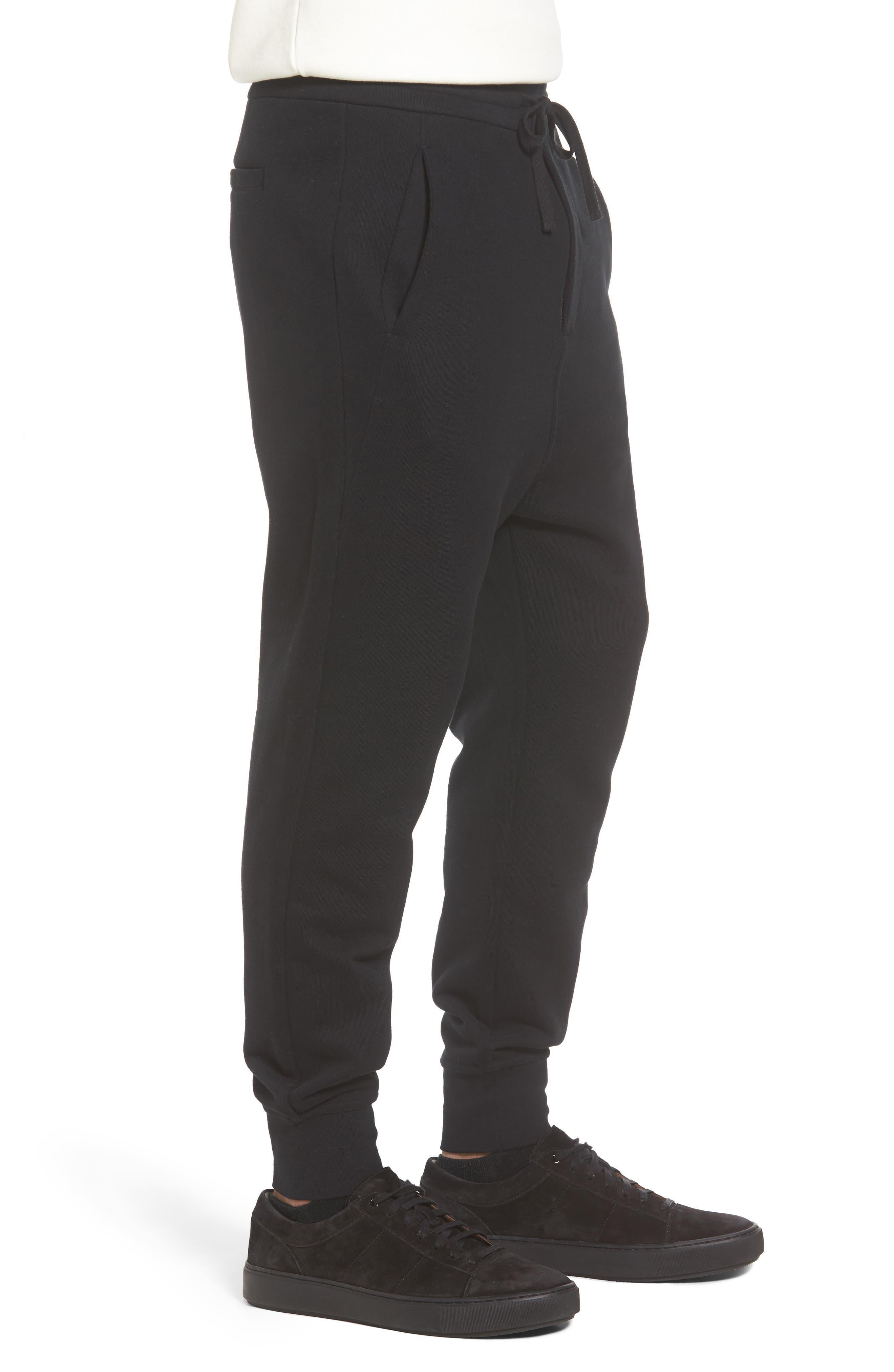 Regular Fit Sweatpants,                             Alternate thumbnail 3, color,                             Black