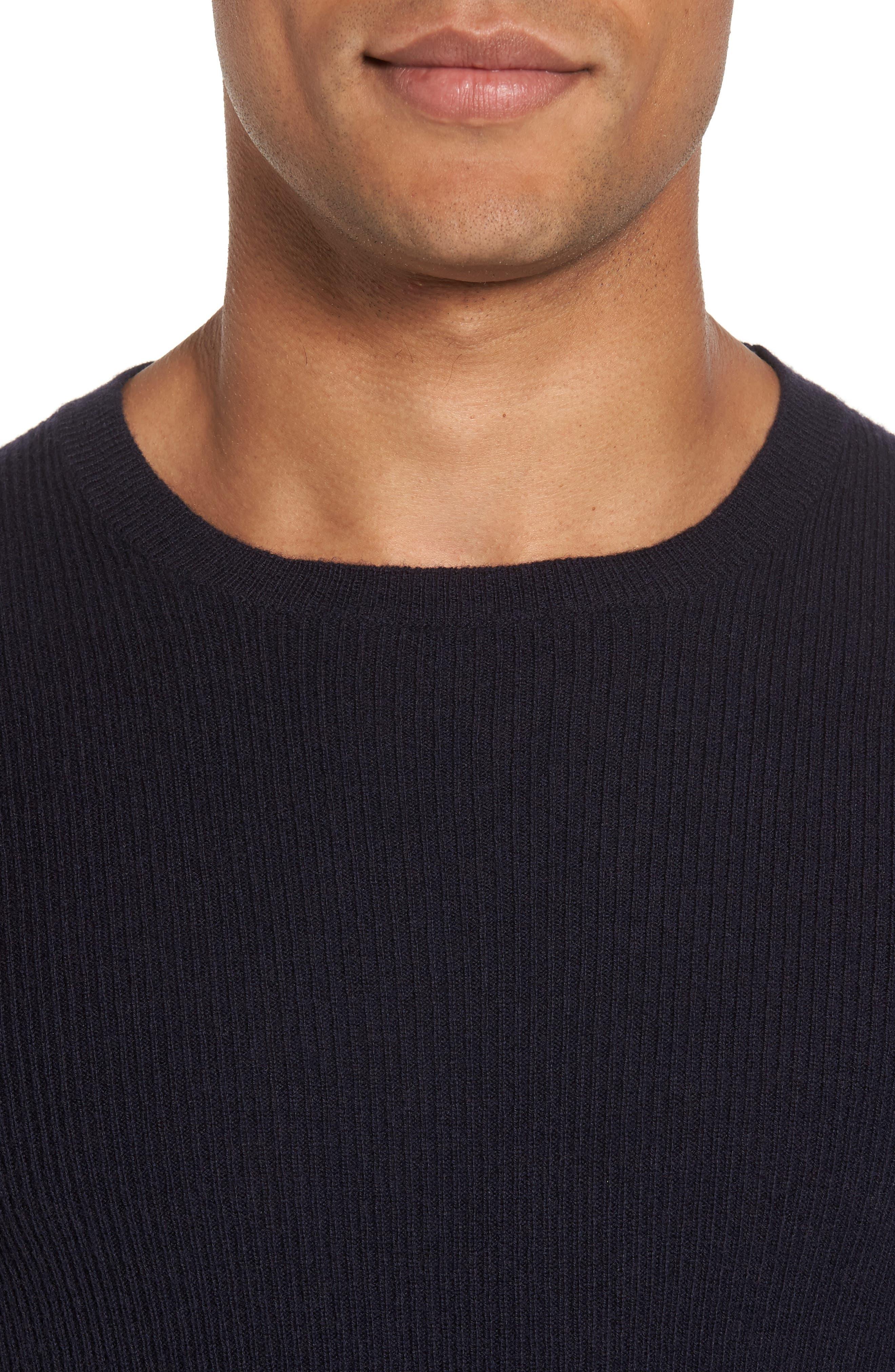 Colorblock Crewneck Sweater,                             Alternate thumbnail 4, color,                             Navy