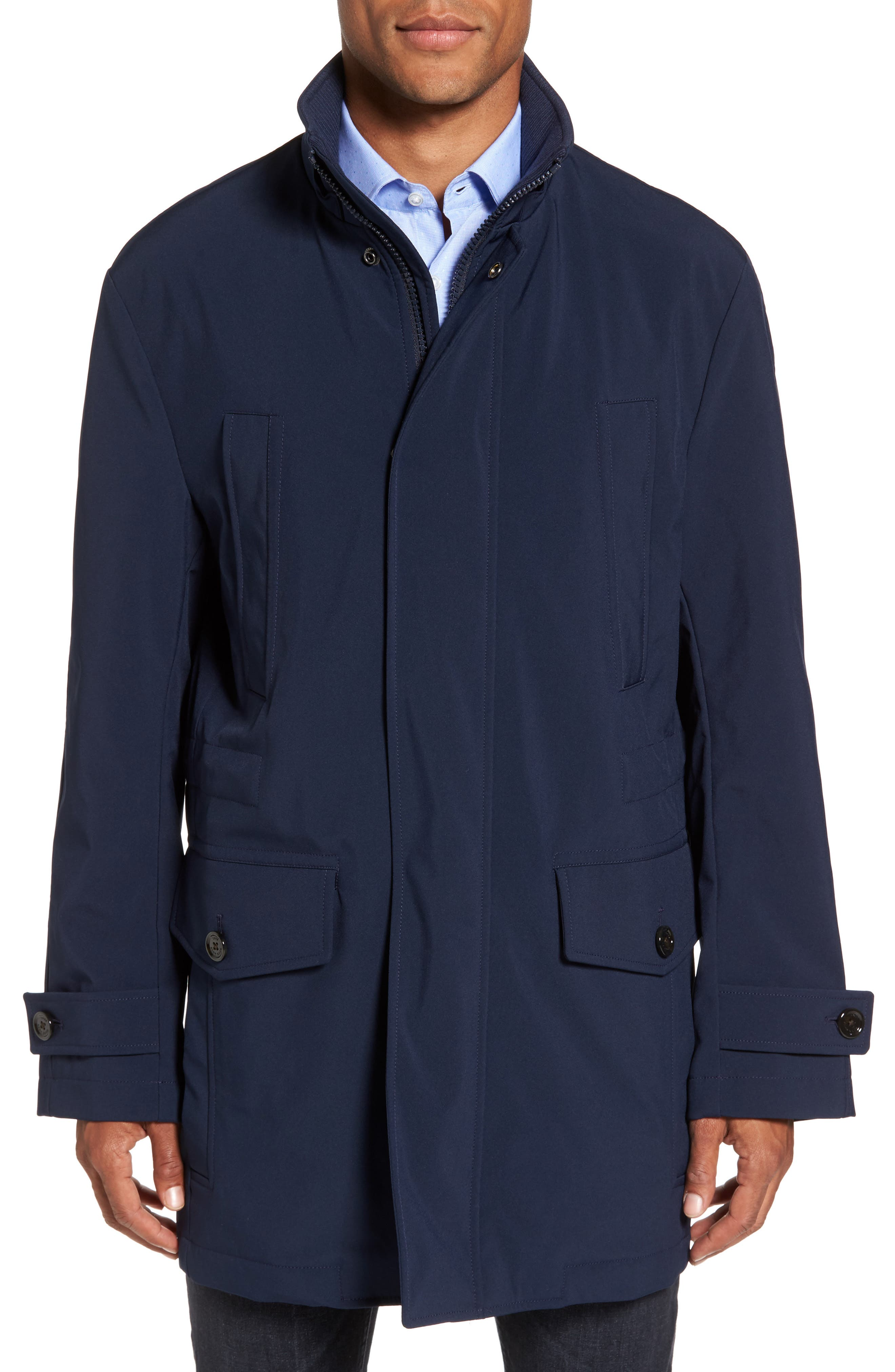 Technical Longline Jacket,                             Alternate thumbnail 4, color,                             Navy