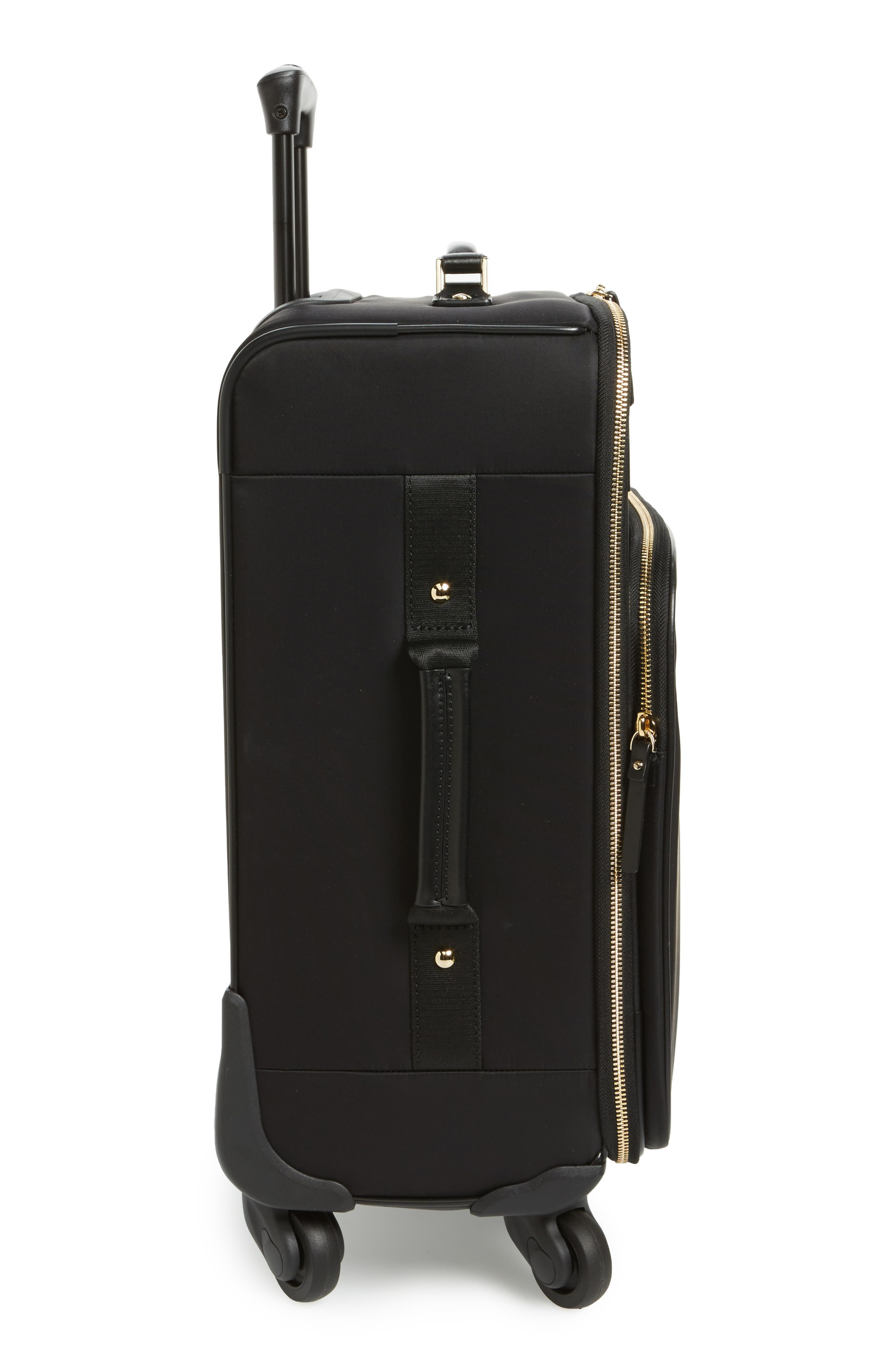 watson lane nylon international 21-inch rolling carry-on,                             Alternate thumbnail 3, color,                             Black