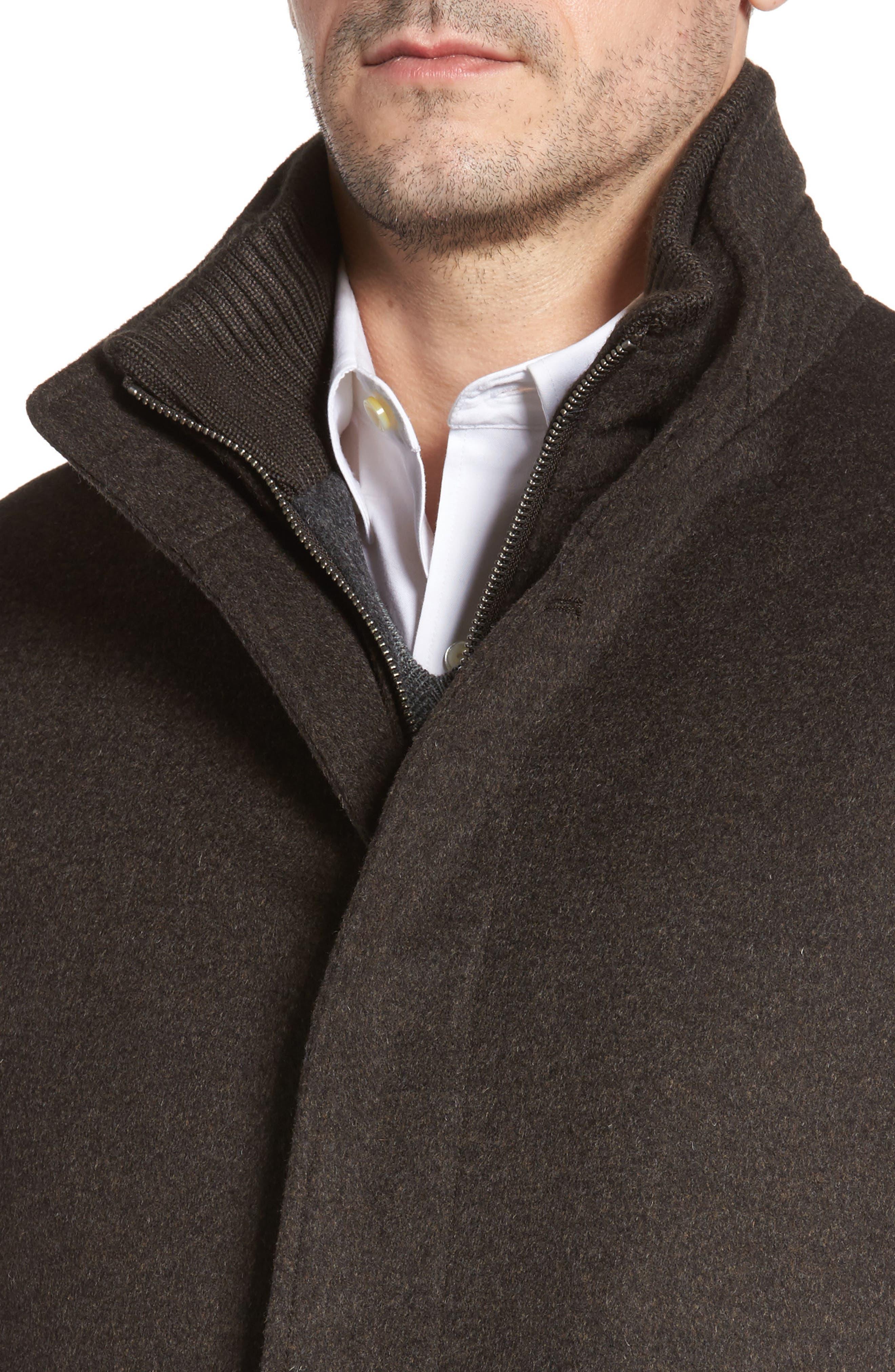 Wool Jacket,                             Alternate thumbnail 4, color,                             Brown Melange