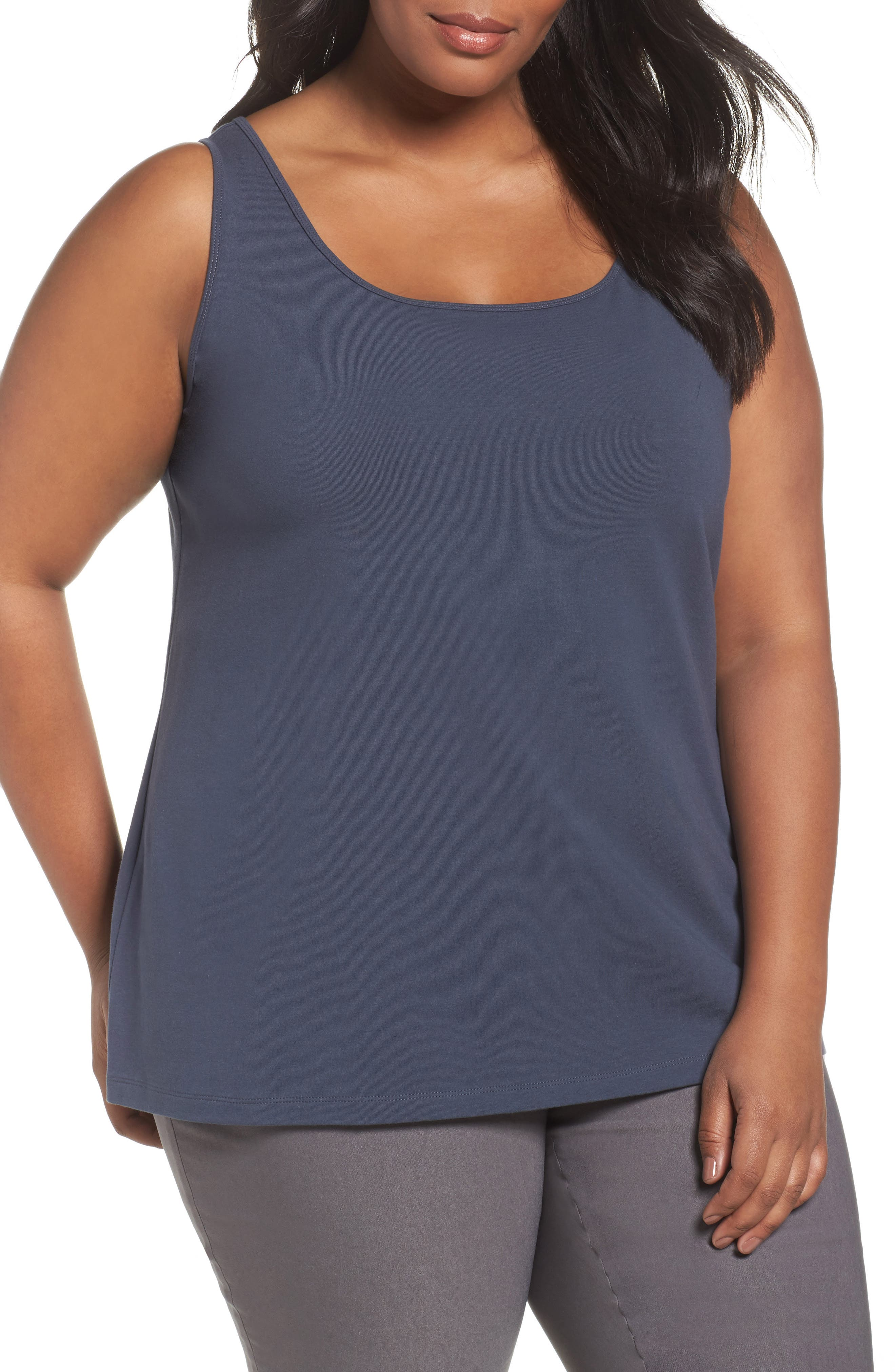 Alternate Image 1 Selected - NIC+ZOE Perfect Tank (Plus Size)