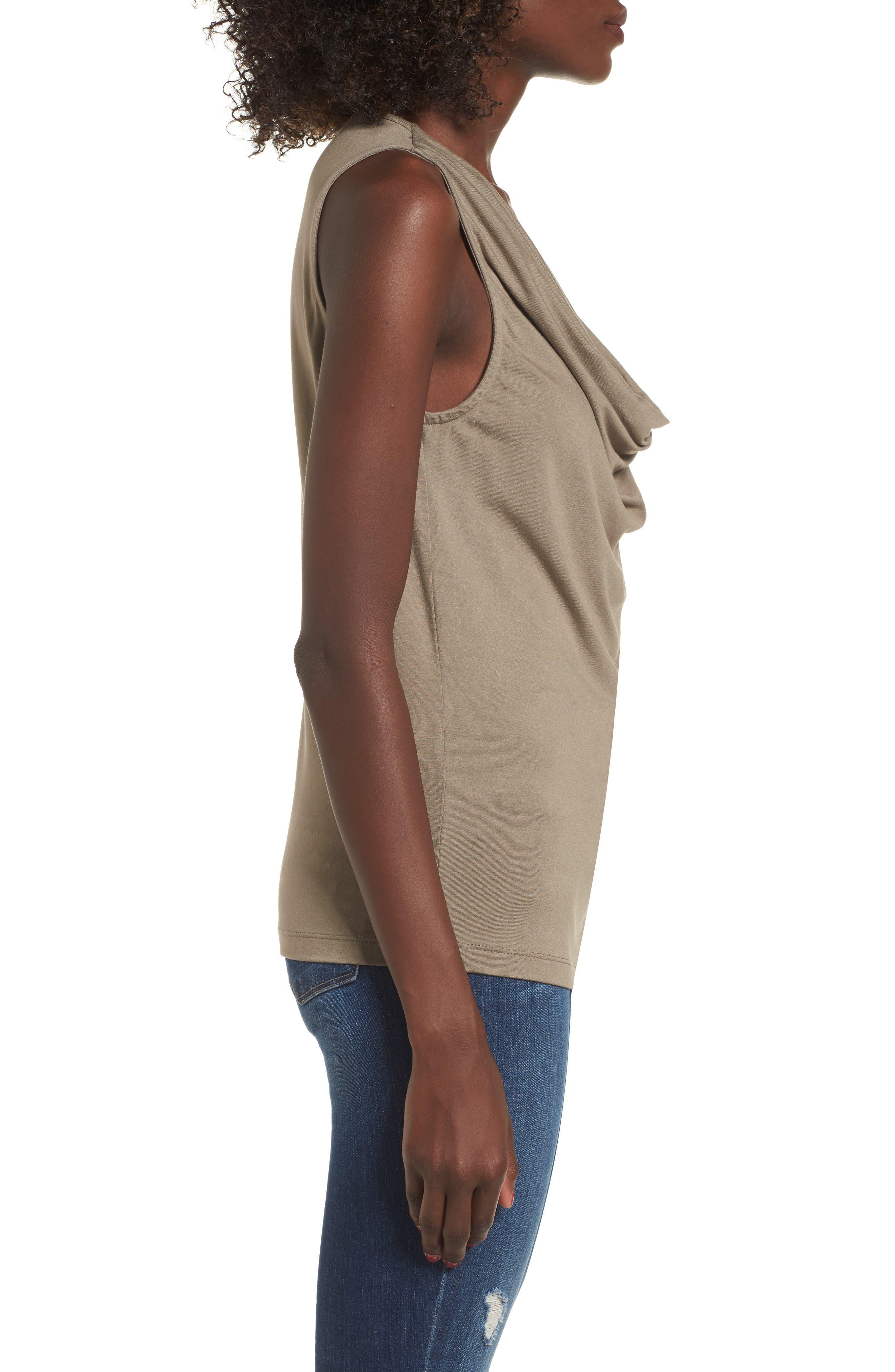 Alternate Image 3  - SuperTrash Tangy Drape Neck Sleeveless Top