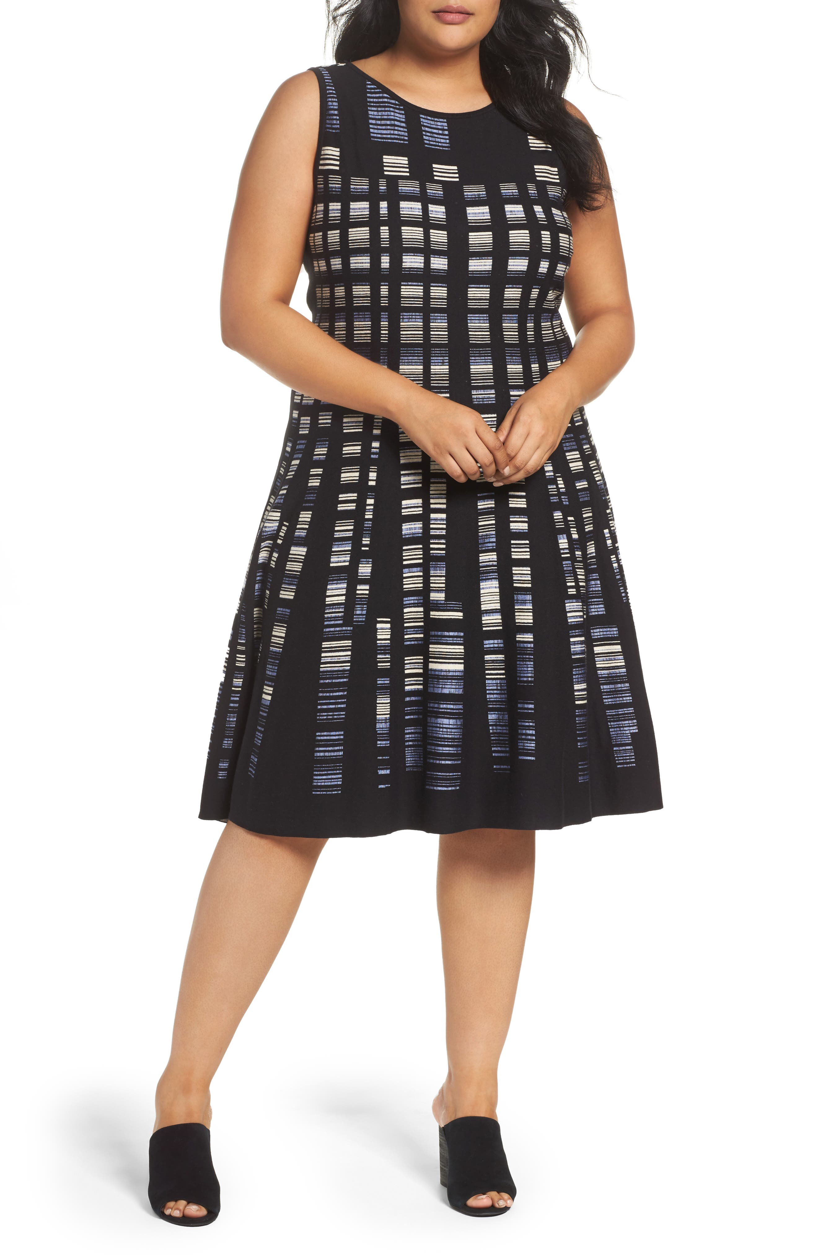 NIC + ZOE Crystal Cove Sleeveless Knit Dress (Plus Size)