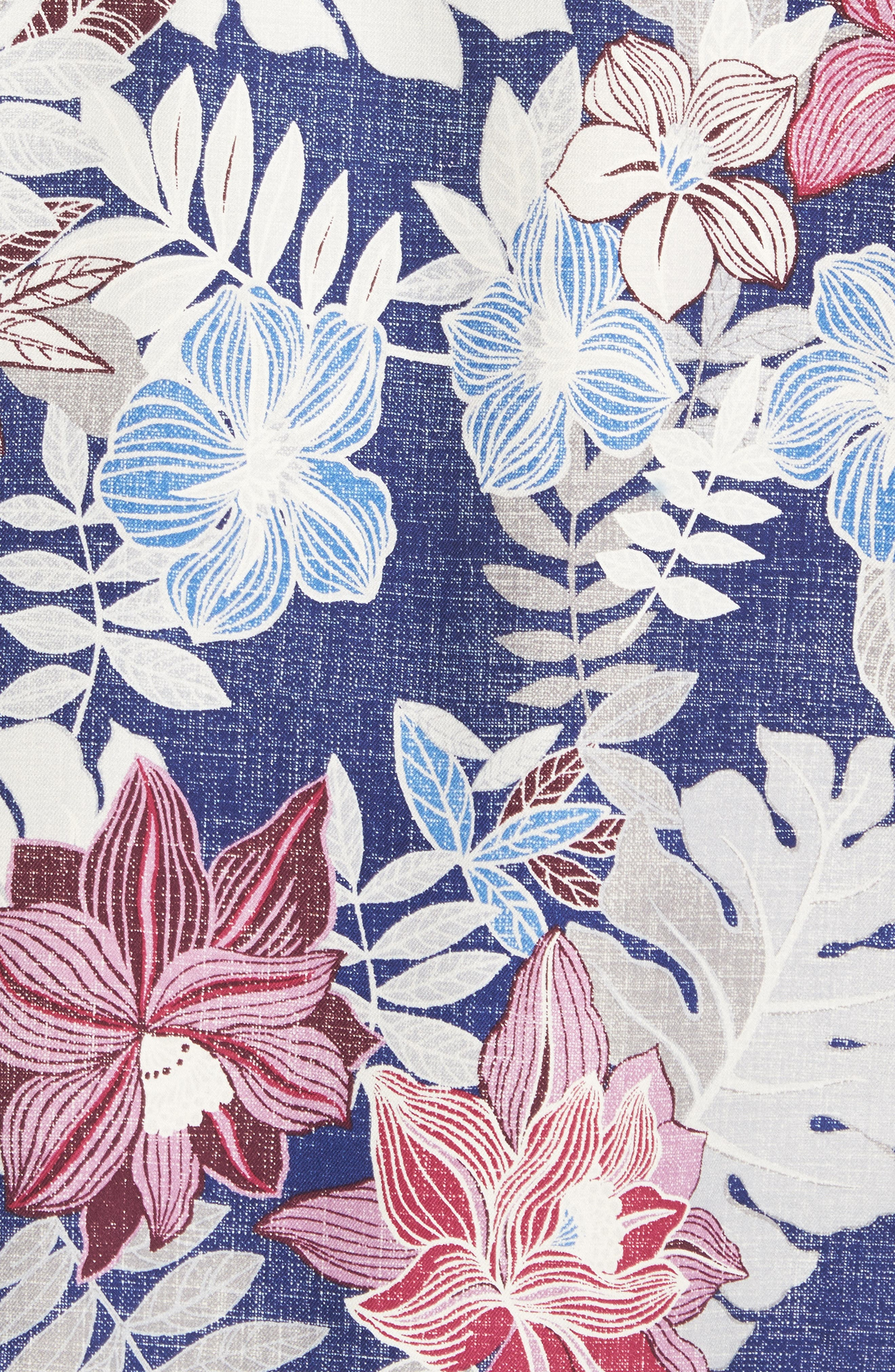 Alternate Image 5  - Tommy Bahama Desert Blooms Original Fit Print Silk Camp Shirt