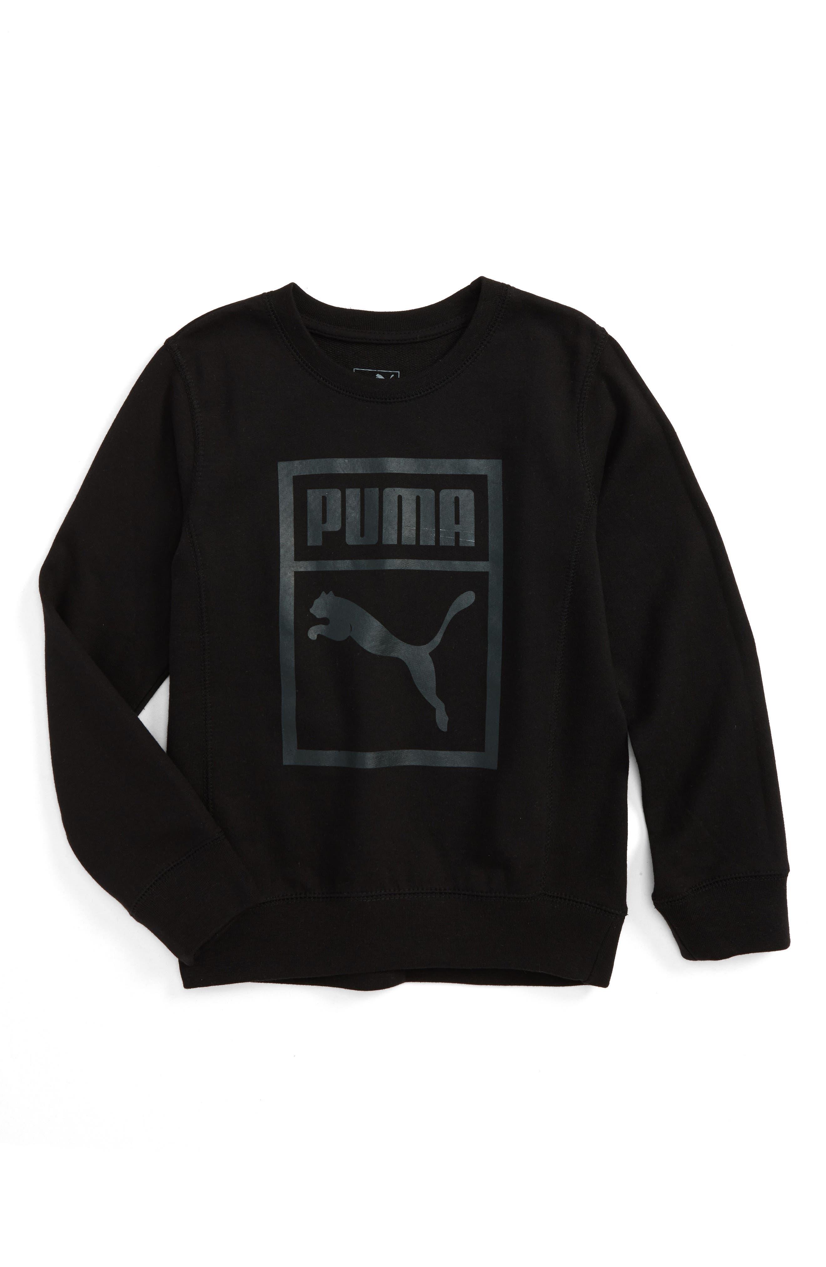 Puma Heritage Logo Crewneck Sweatshirt (Little Boys)