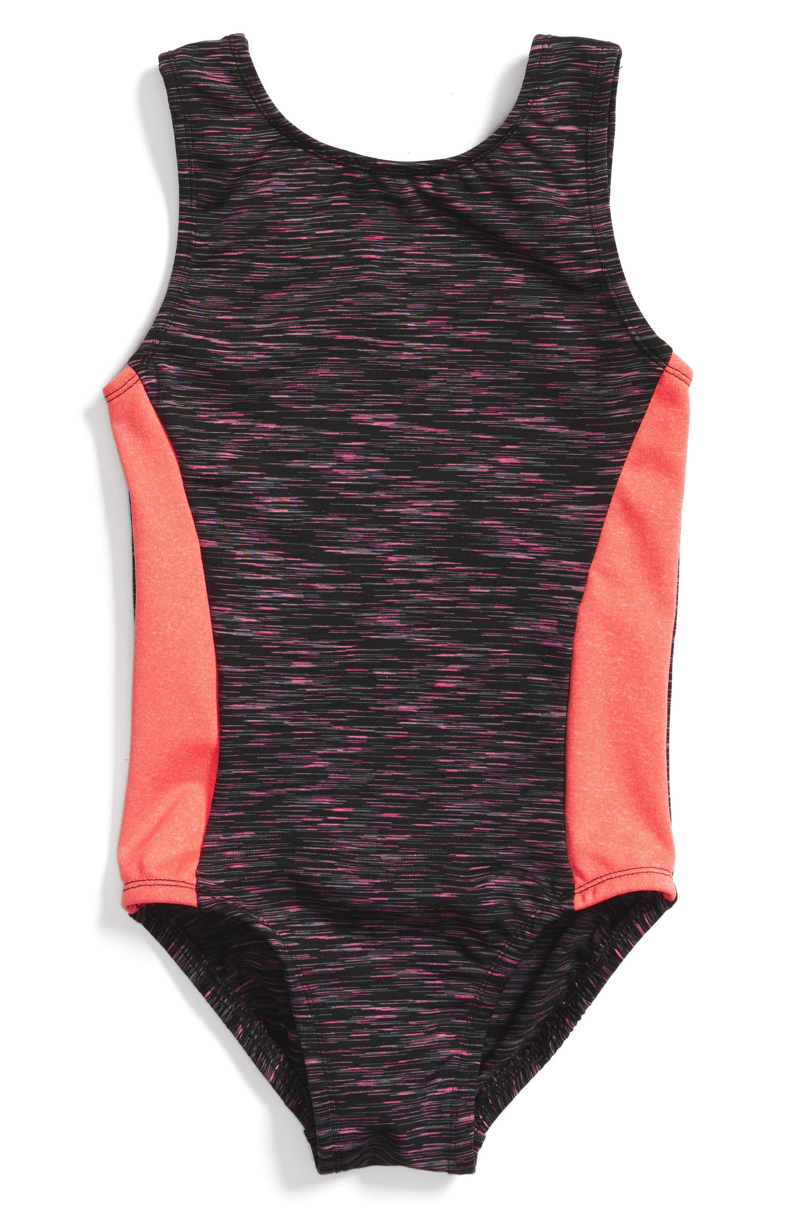 Space Dye Perfect Fit Leotard,                         Main,                         color, Fuchsia