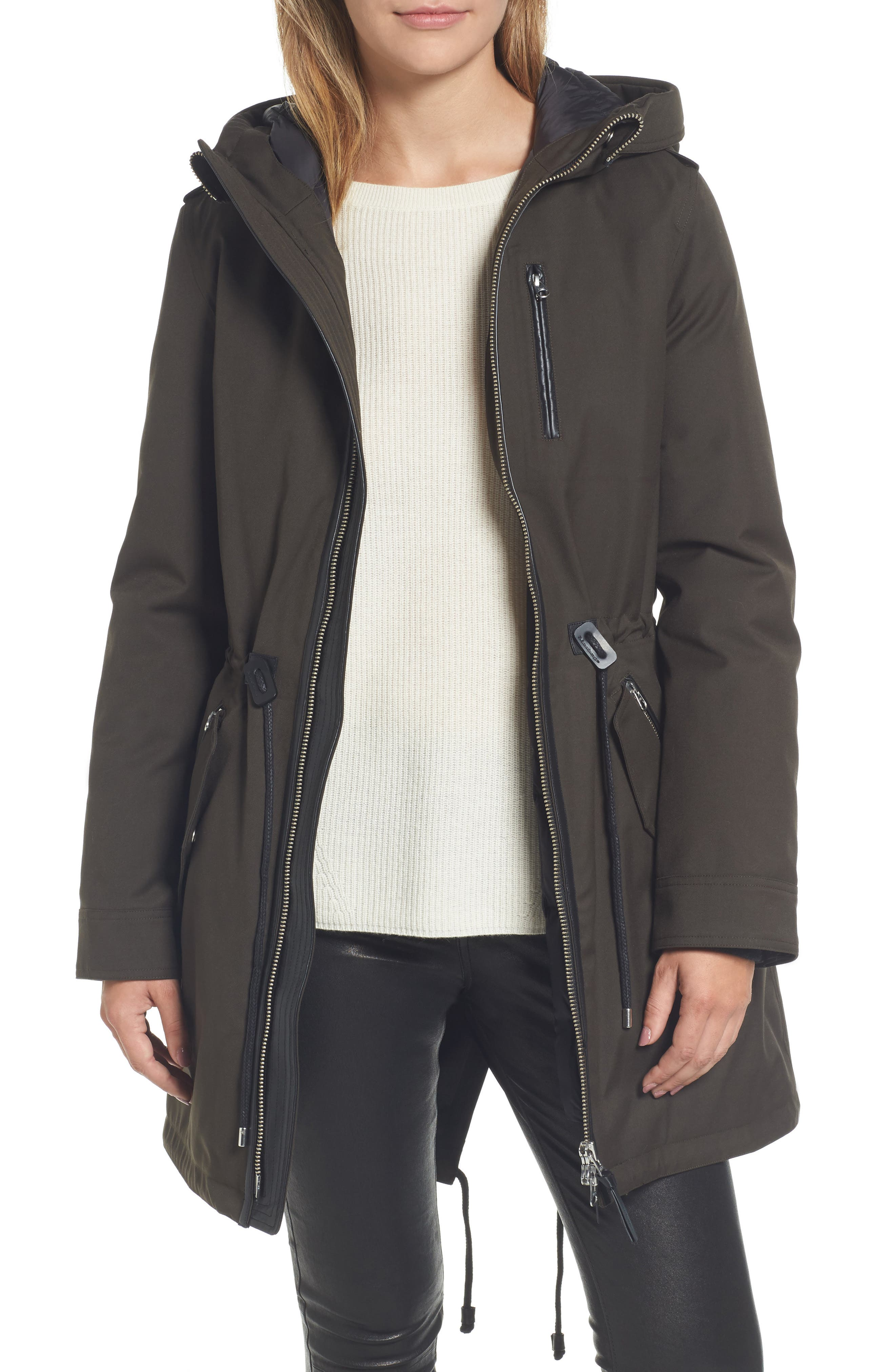 Mackage Rada-SP Hooded Raincoat with Removable Down Liner