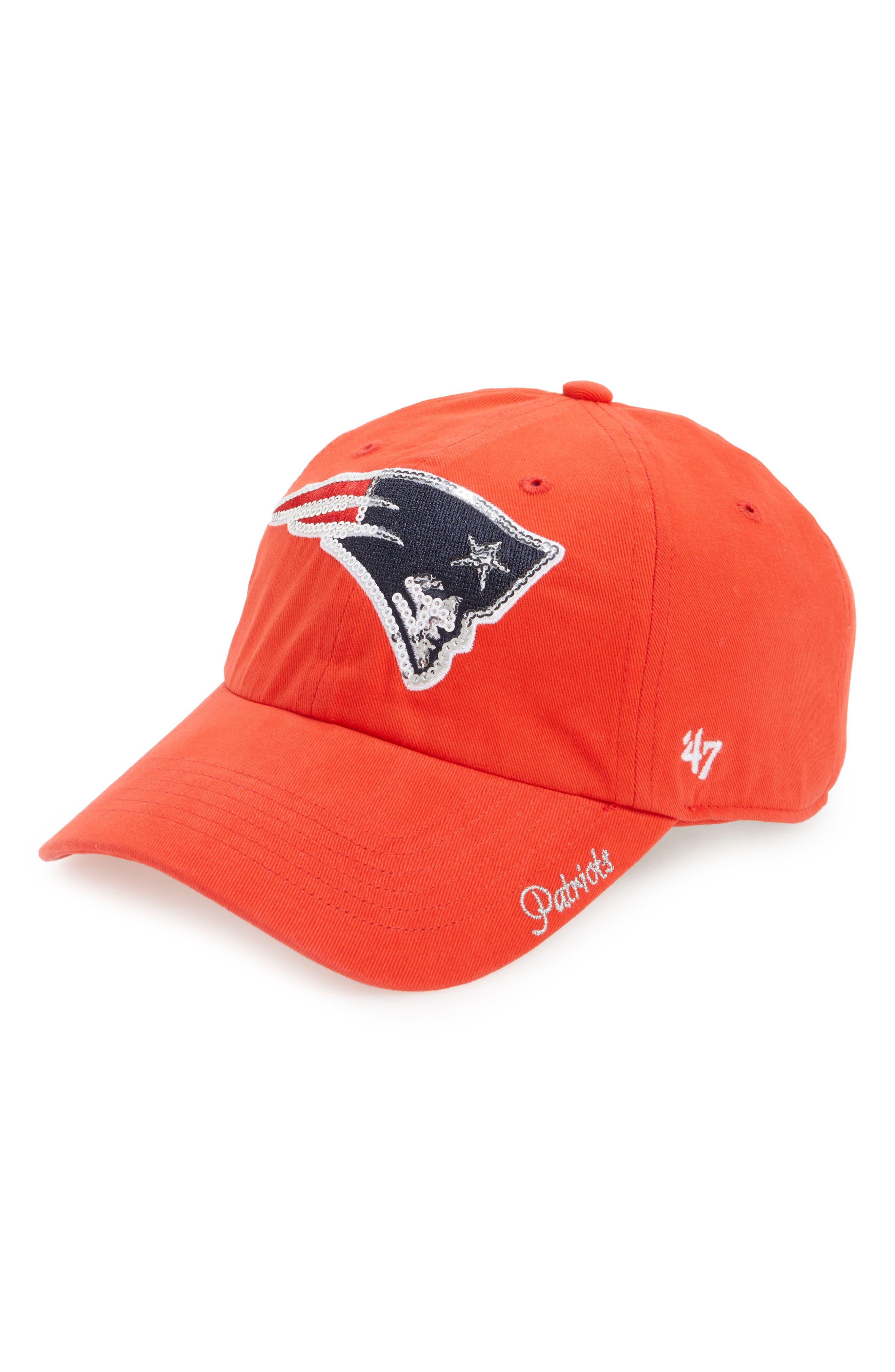 New England Patriots Sparkle Cap,                         Main,                         color, Red