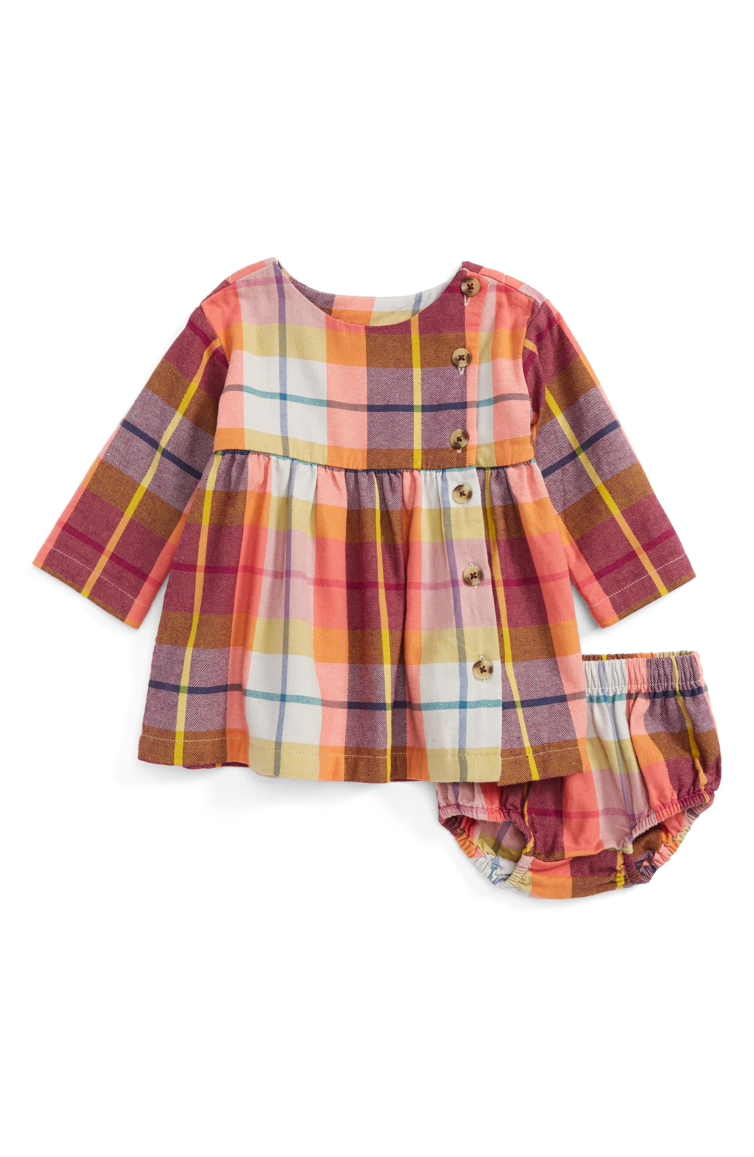 Tea Collection Plaid Cotton Flannel Dress Baby Girls
