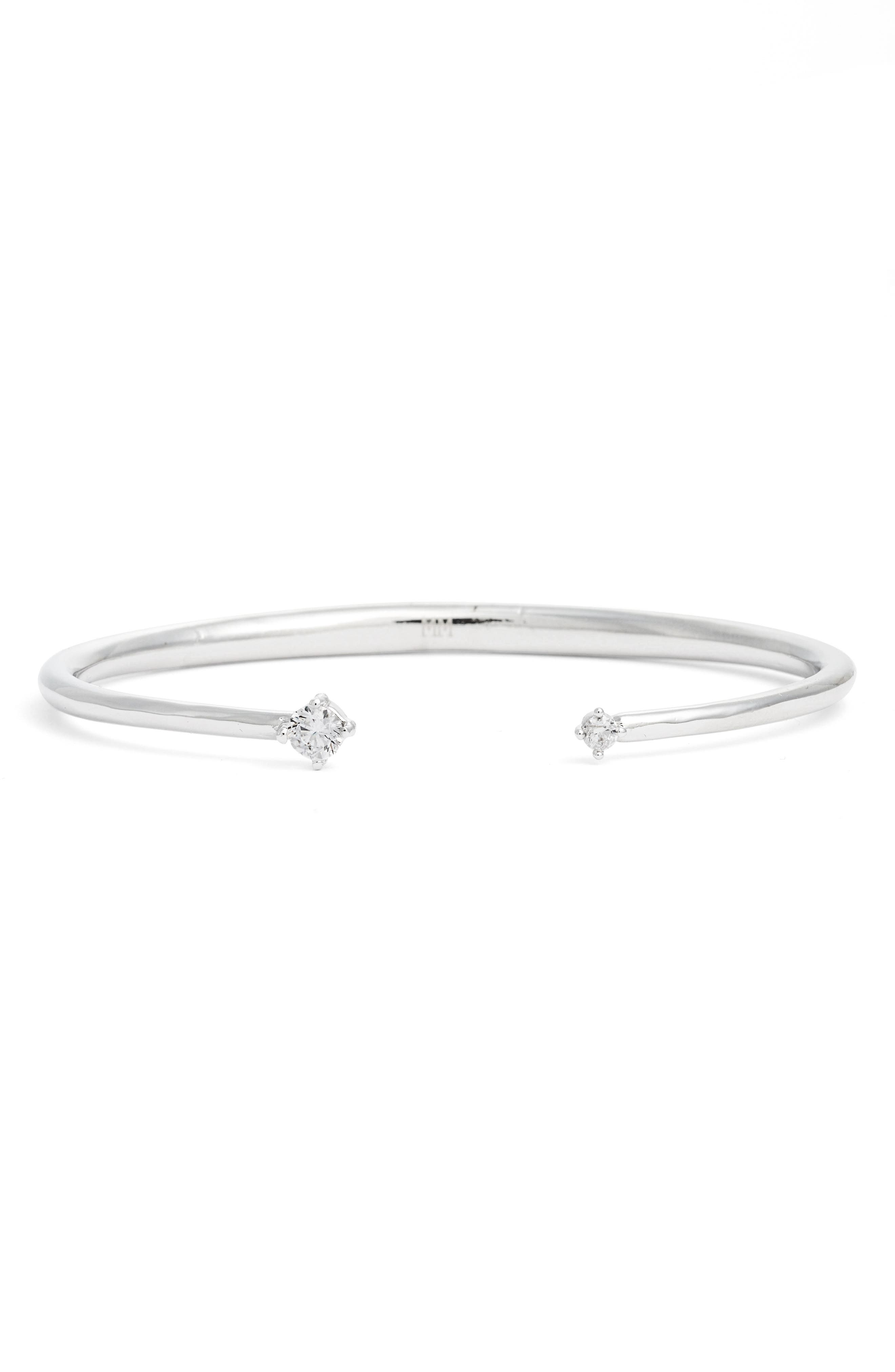 Belaisa Station Cuff,                         Main,                         color, Silver