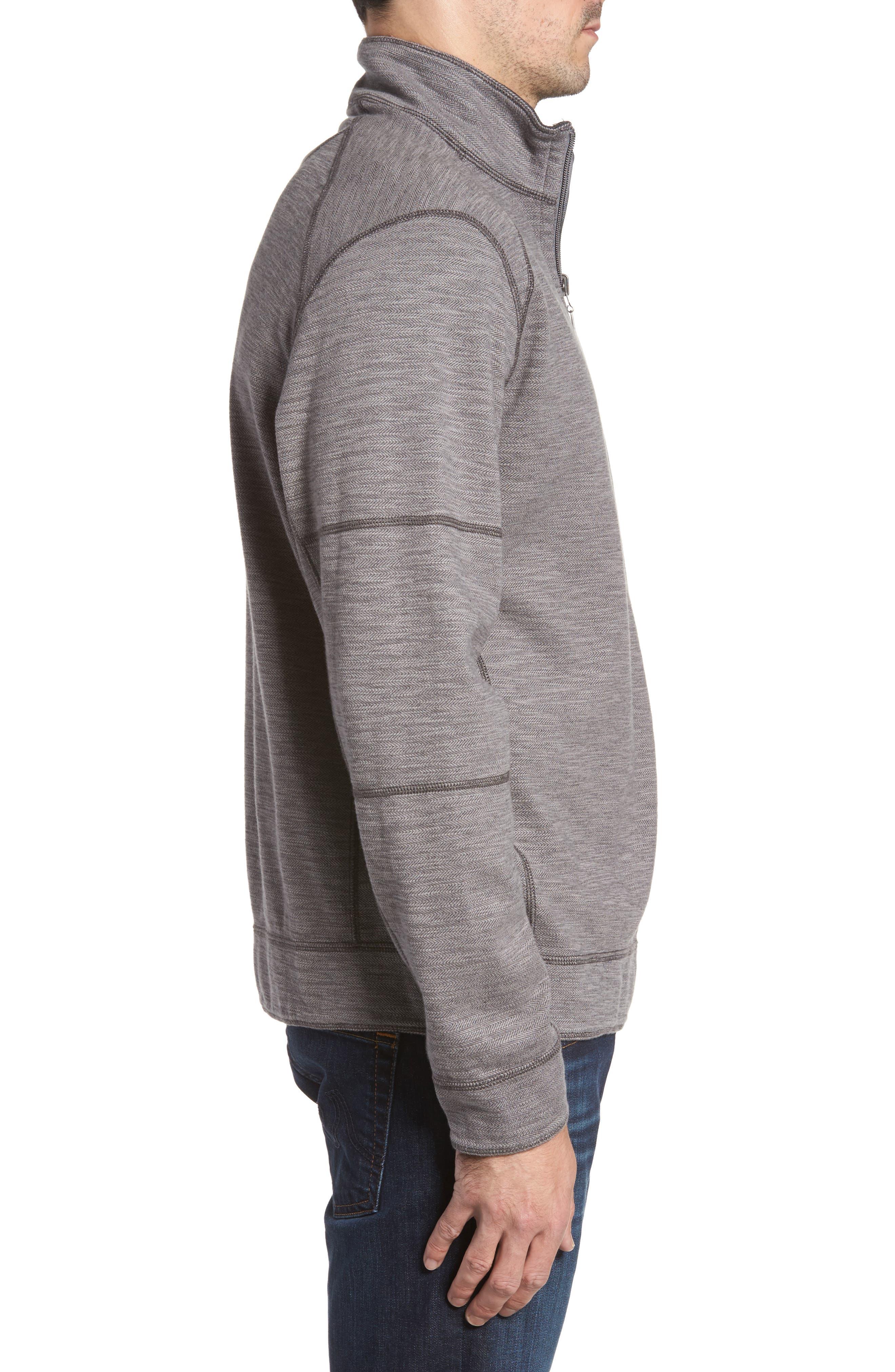 Alternate Image 3  - Tommy Bahama Sandbar Slub Reversible Quarter Zip Pullover