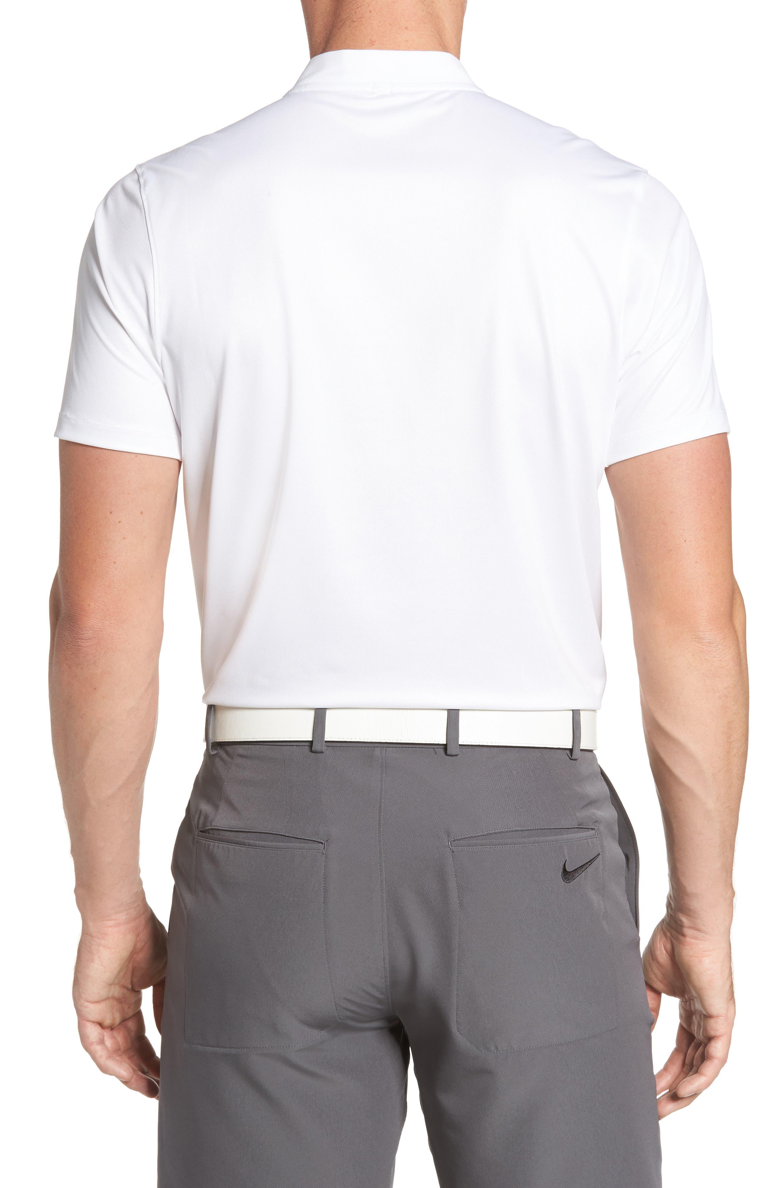 Dry Golf Polo,                             Alternate thumbnail 2, color,                             White/ Platinum/ Black/ Black