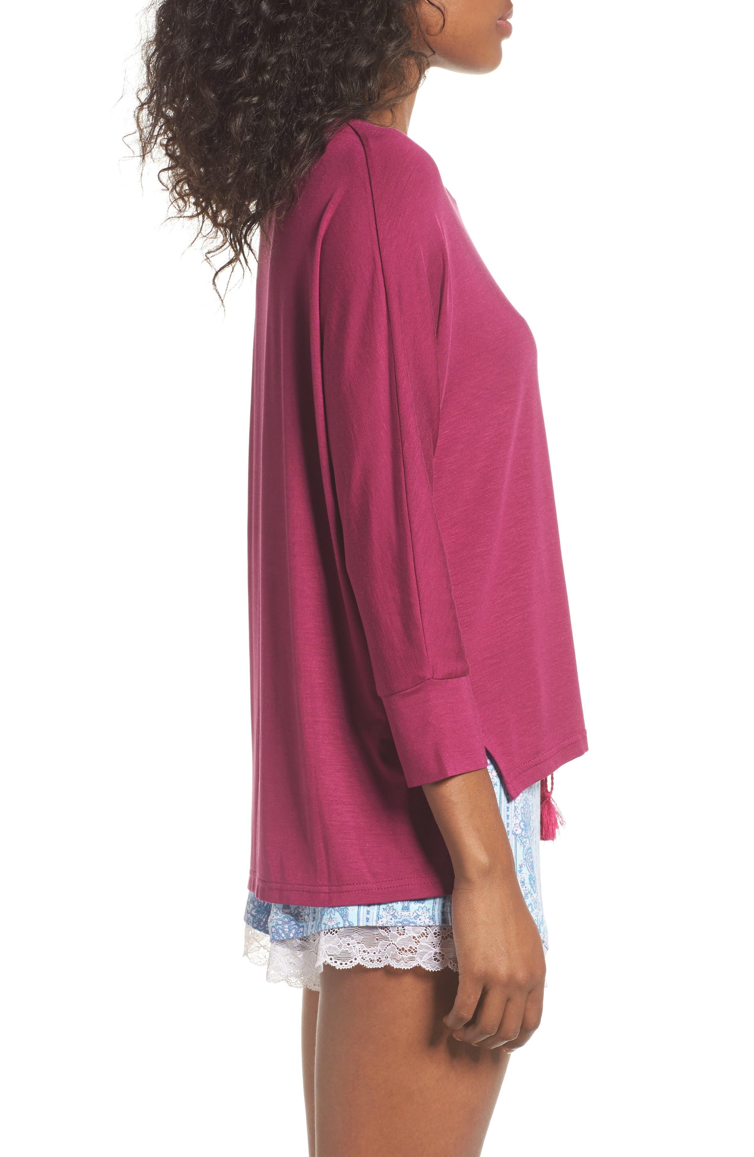 Honeydew Short Pajamas,                             Alternate thumbnail 3, color,                             Tuscany