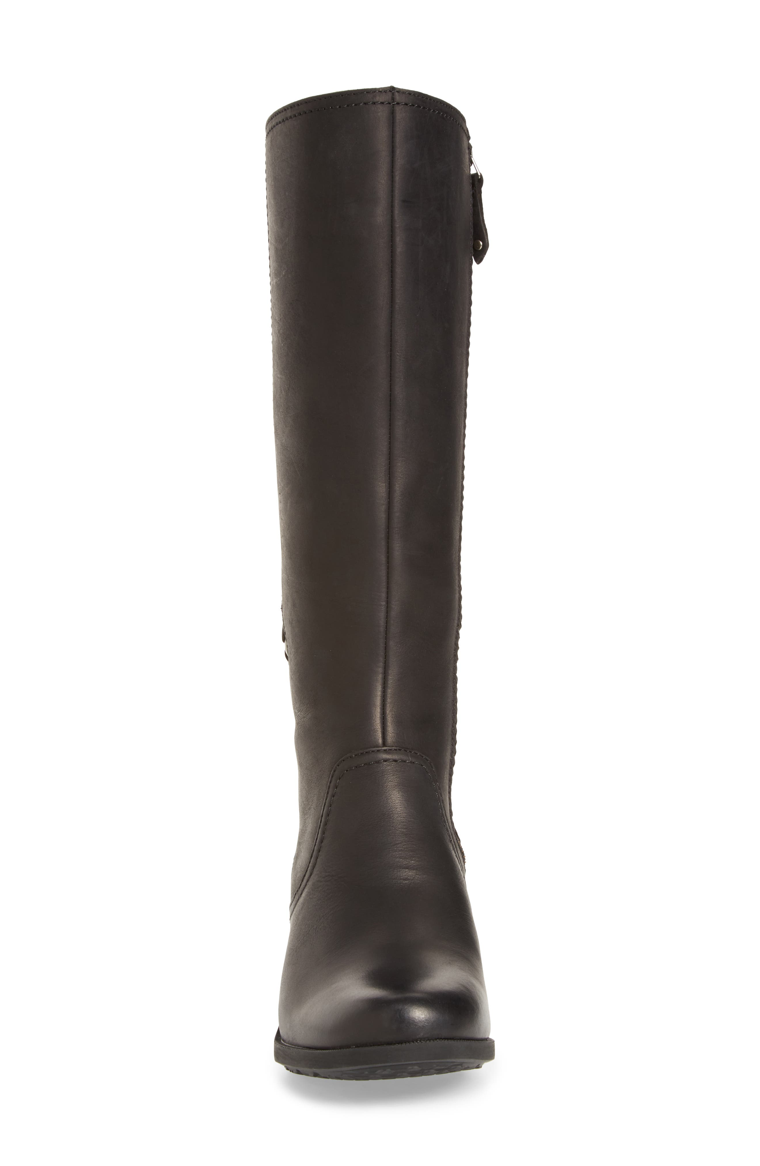 Foxy Waterproof Boot,                             Alternate thumbnail 4, color,                             Black Leather