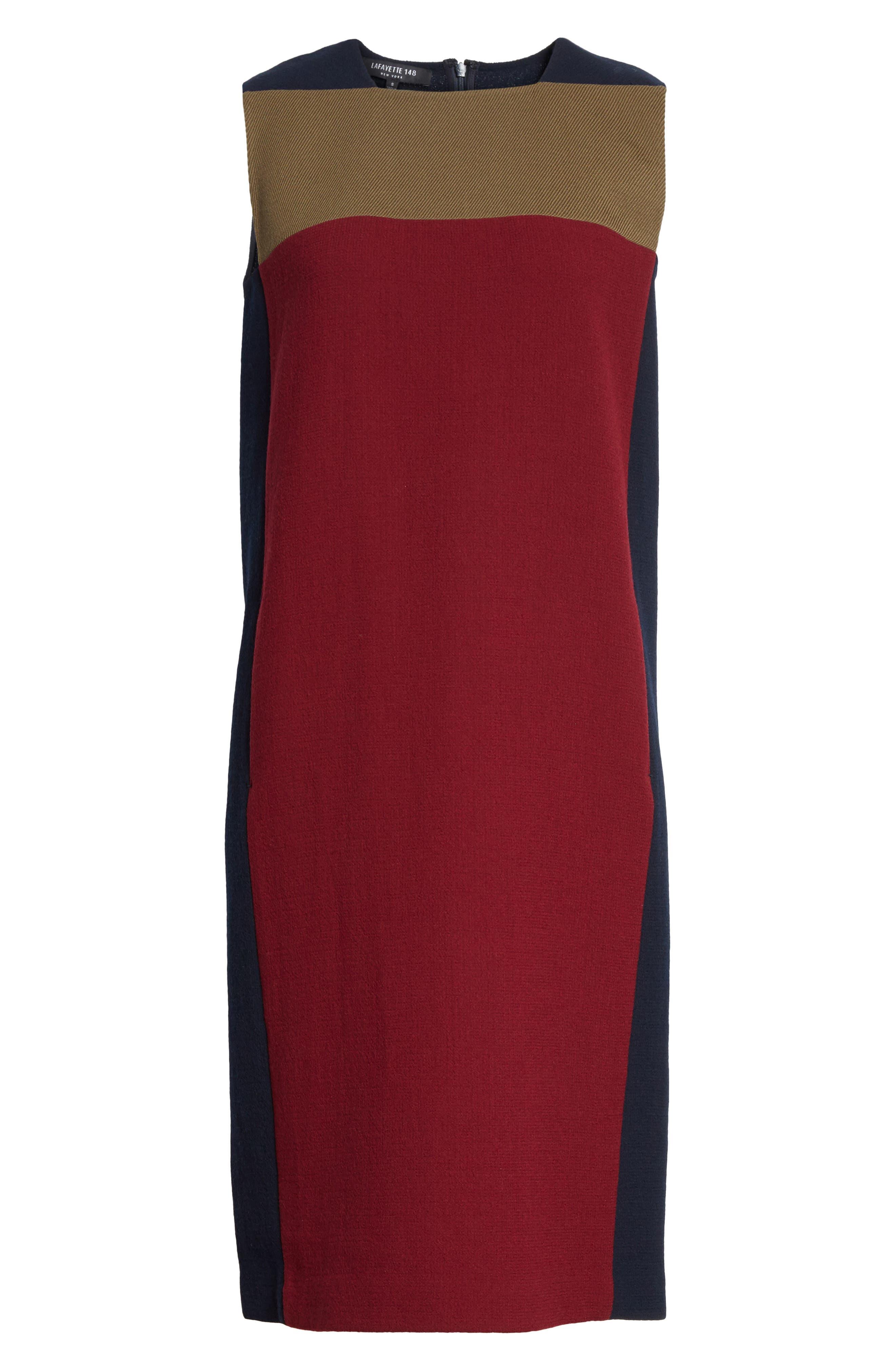 Alternate Image 6  - Lafayette 148 New York Zandra Colorblock Nouveau Crepe Dress