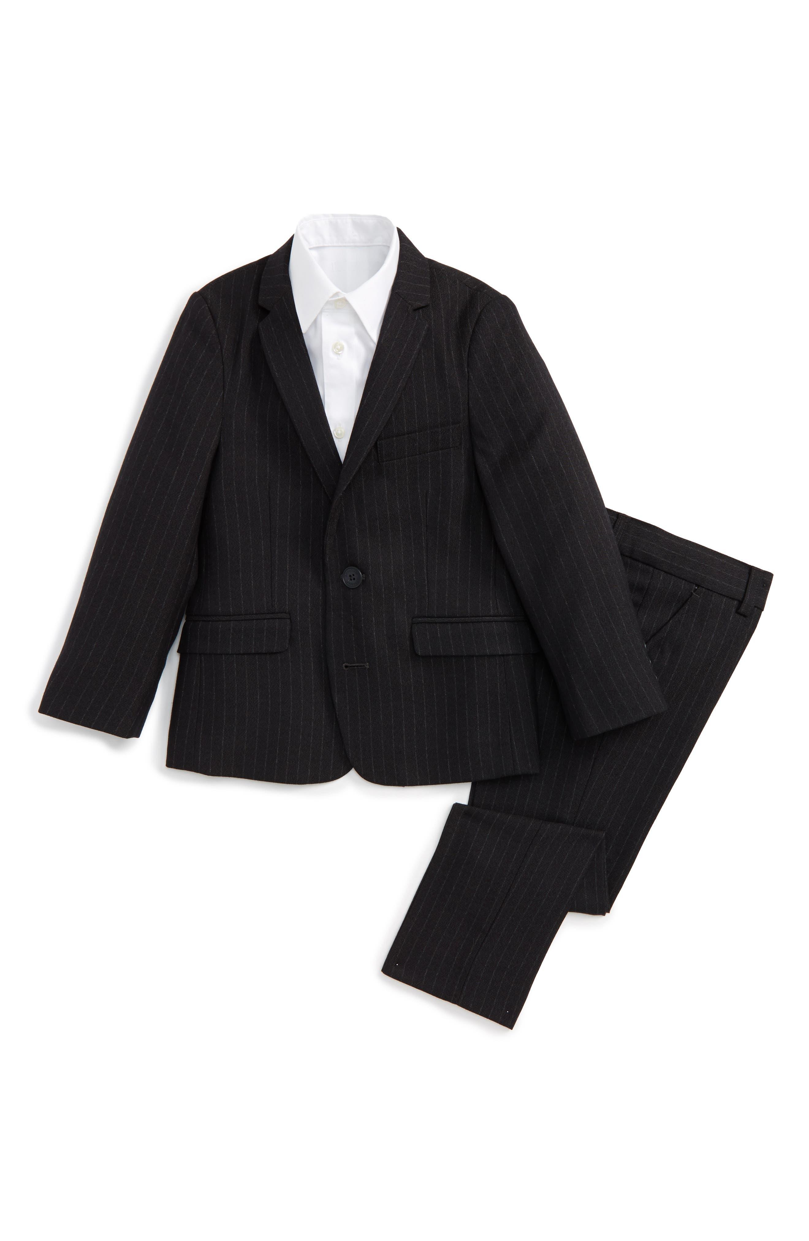 Mod Pinstripe Suit,                         Main,                         color, Charcoal Pencil Stripe