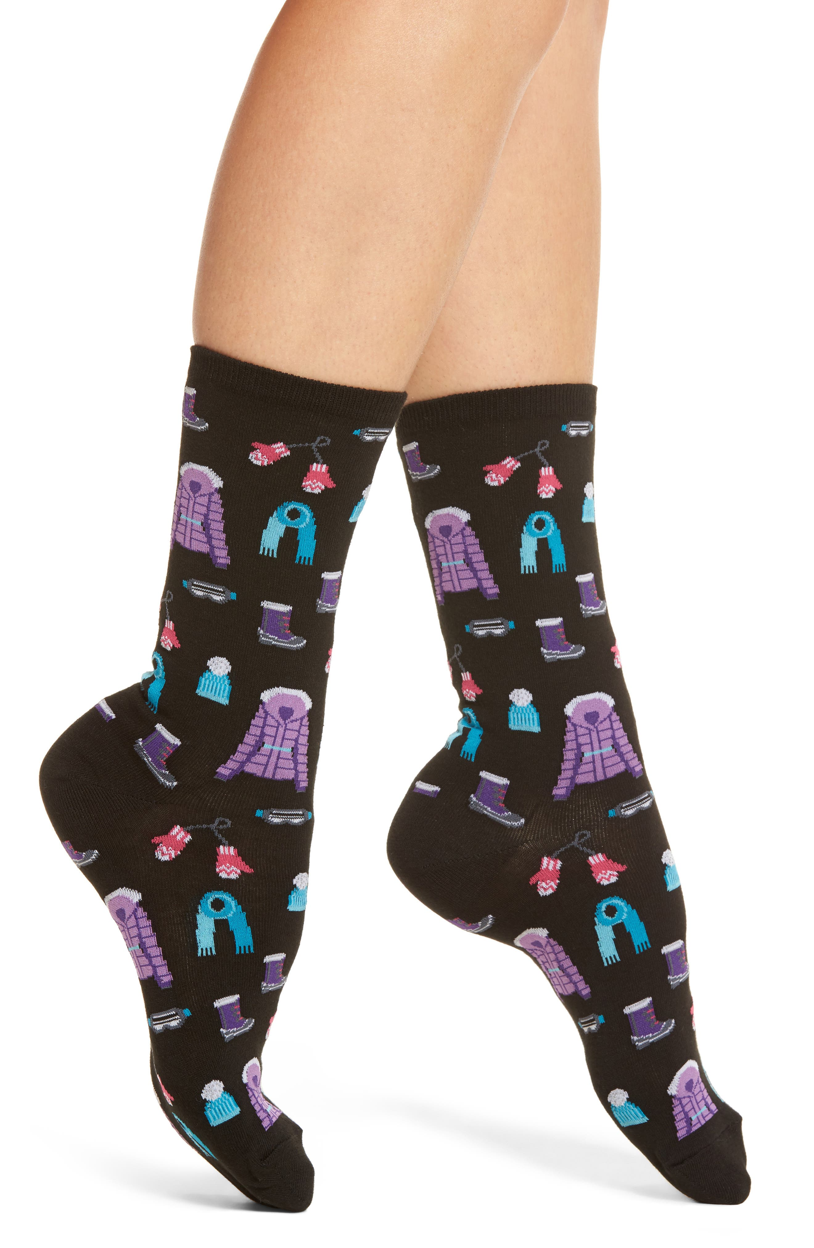 Alternate Image 1 Selected - Hot Sox Ski Clothes Crew Socks (3 for $15)