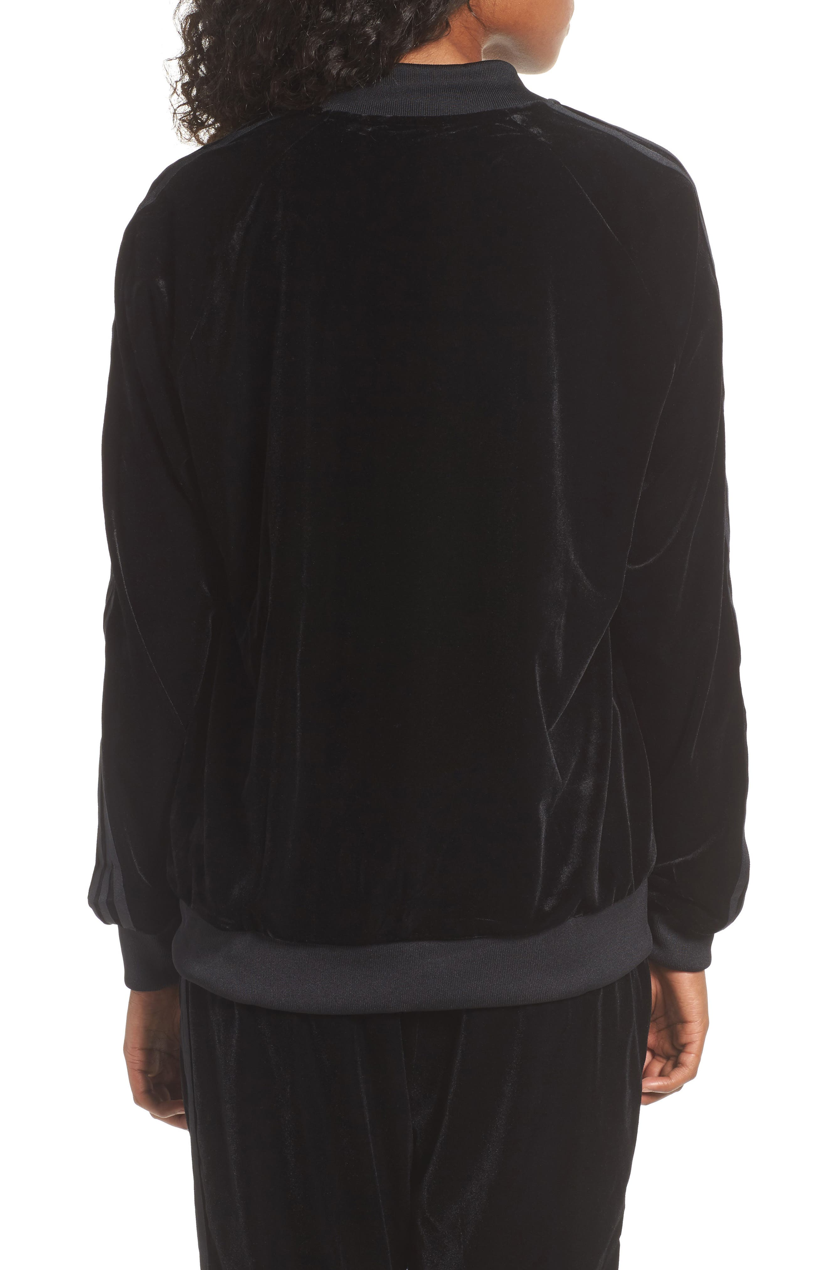 Alternate Image 2  - adidas originals Velvet Zip Sweatshirt