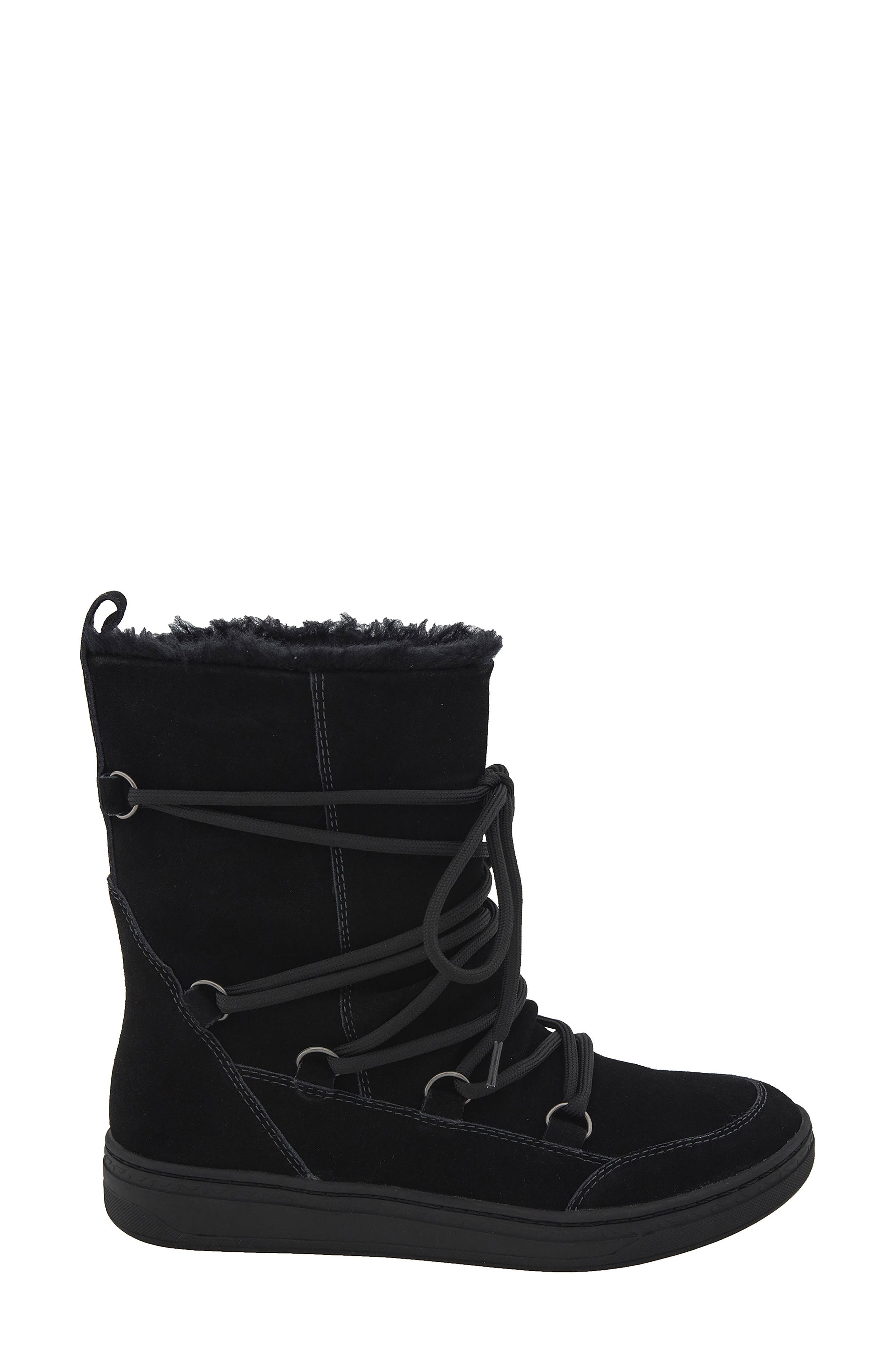 Zodiac Water Resistant Boot,                             Alternate thumbnail 3, color,                             Black Suede