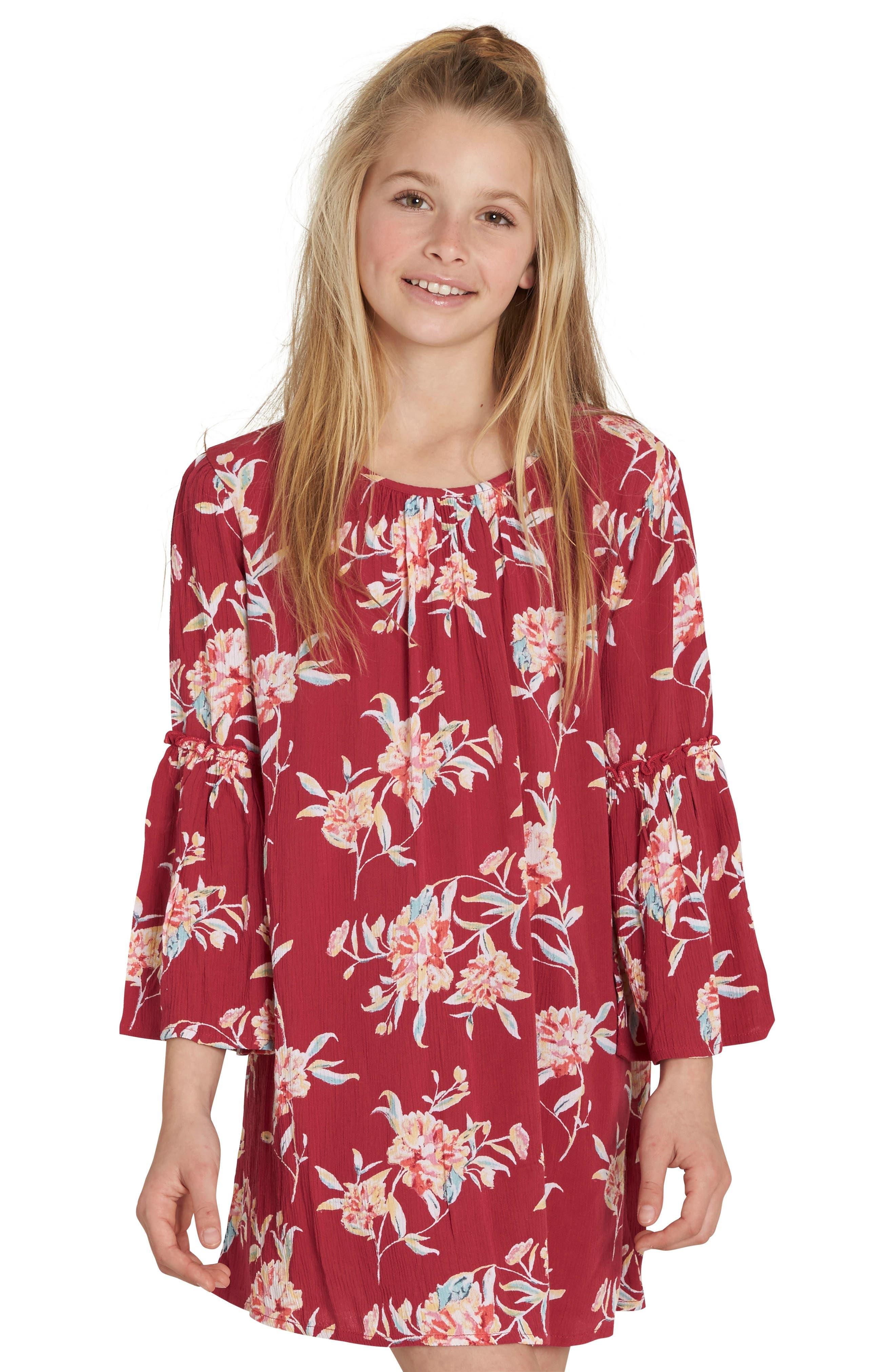Alternate Image 1 Selected - Billabong Vacation Mode Print Dress (Little Girls & Big Girls)