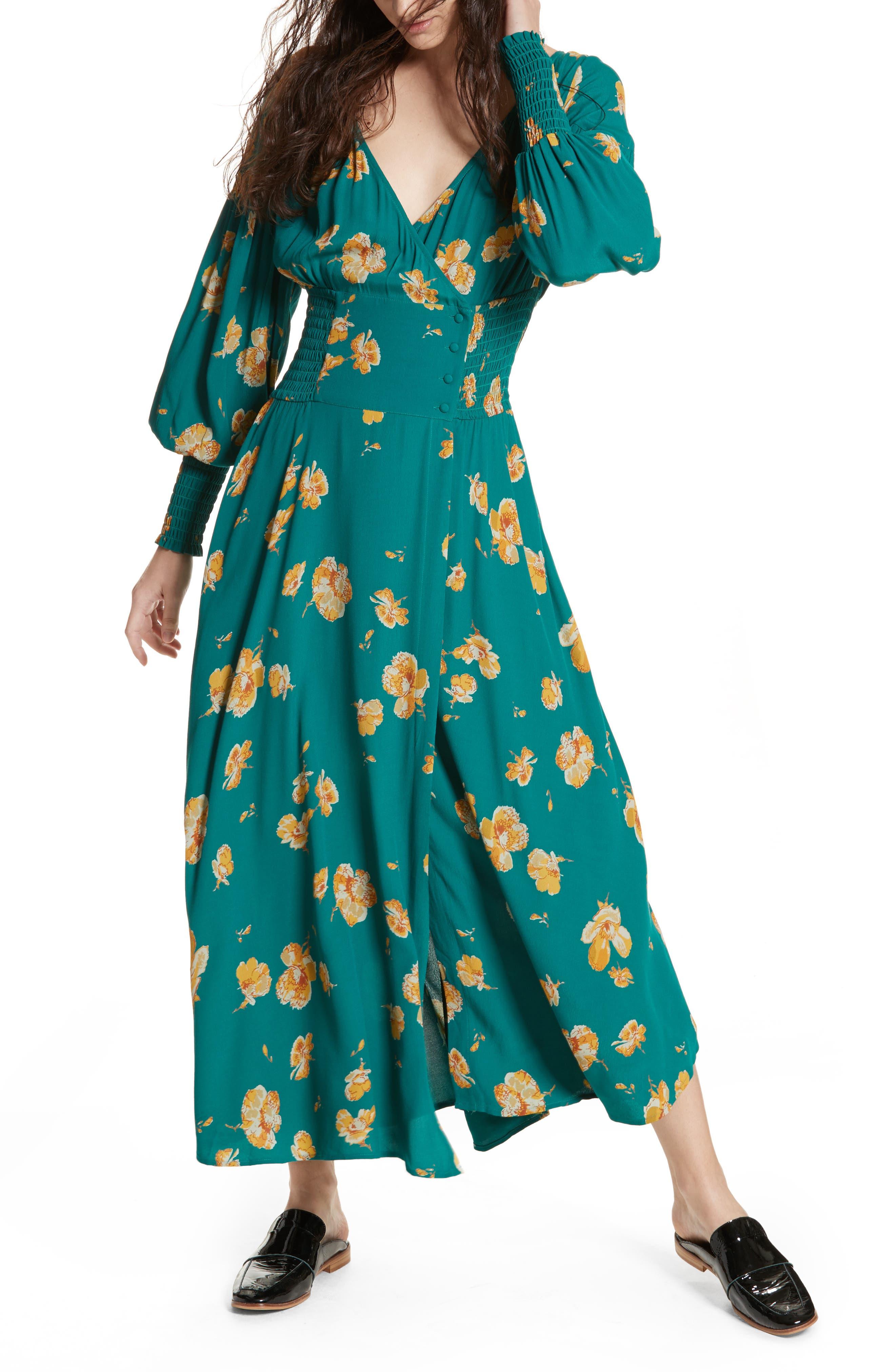 So Sweetly Midi Dress,                         Main,                         color, Green Combo